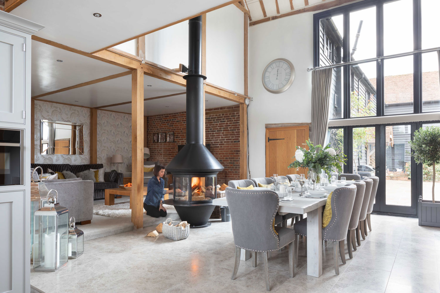 Renovated barn conversion featuring inside and on the front cover of the January 2019 issue of EKBB magazine.    Photo by Paul Craig   Styling by Design By Portia