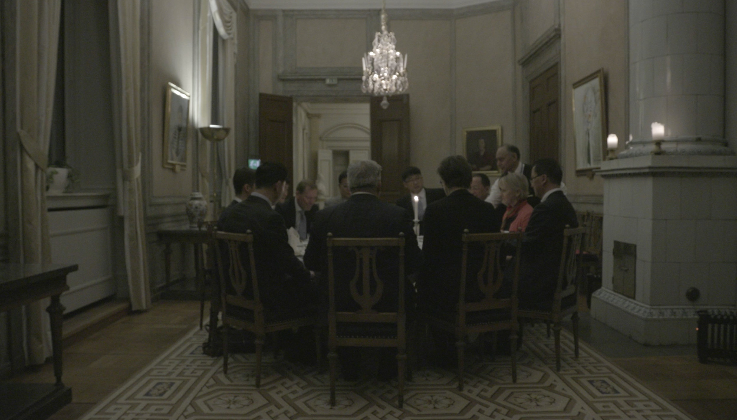 Dinner with the North Korea delegation in Stockholm.