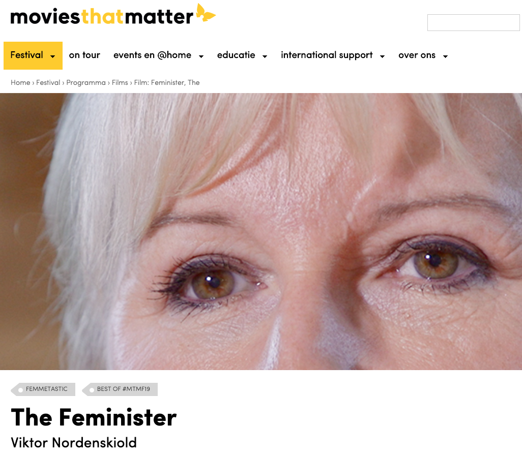 Movies that Matter festival, Netherlands, May 5-6, 2019 -