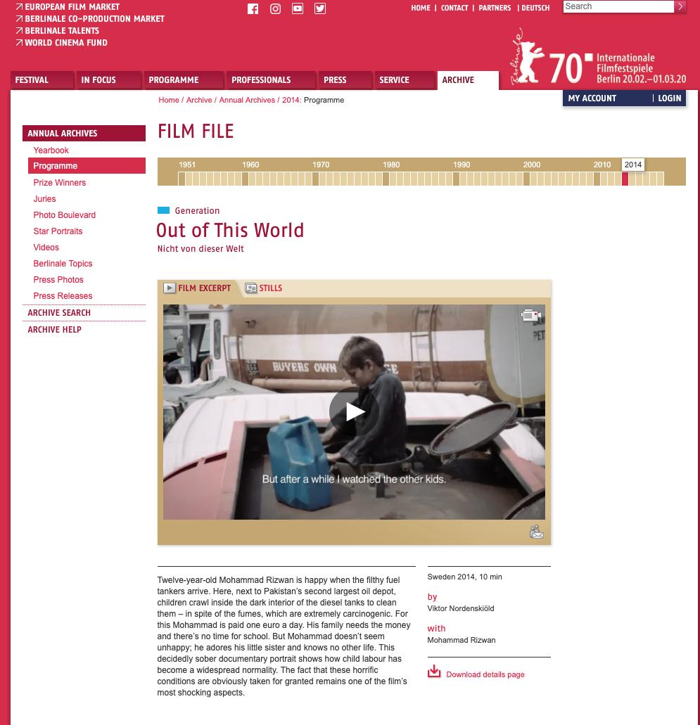 Internationale Filmfestpiele Berlin, Berlinale 2014 -