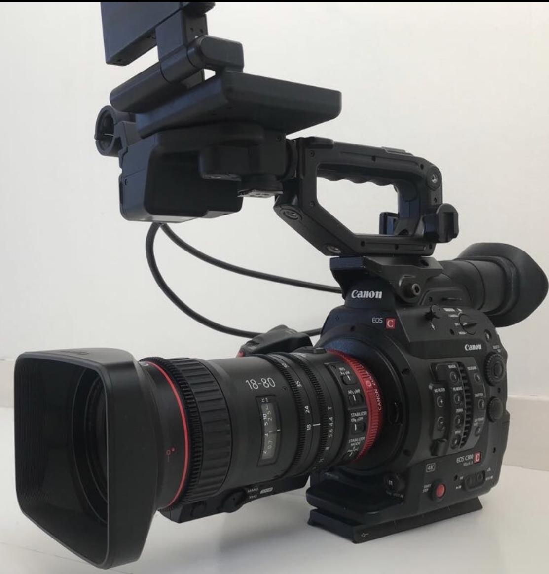 Docu Master - Canon C300 mark ii with Canon CN-E 18-80mm T4,4L IS KAS S (Cine / EF Compact Servo)