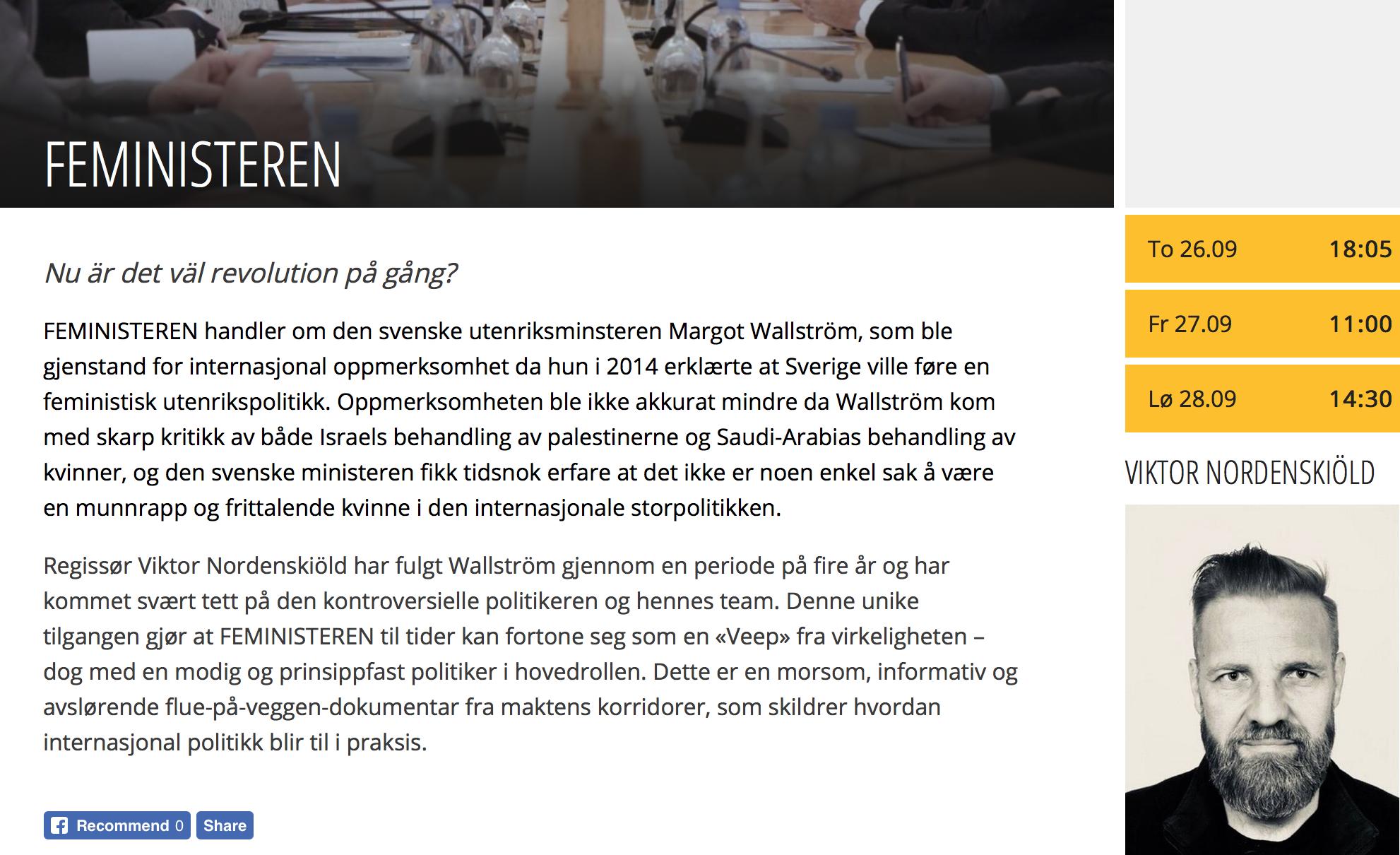 Bergen Internatjonale Film FestivalSept 25-Oct 3, 2019 -