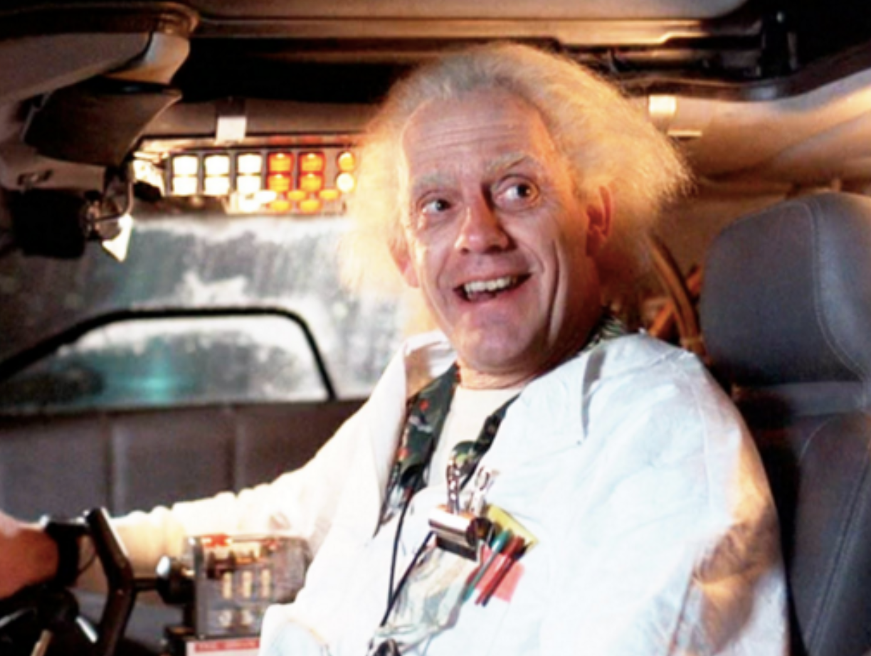 Doc Brown comes firmly entrenched in the Authority of Science. He's a crazy, crazy dude  in a lab coat .)