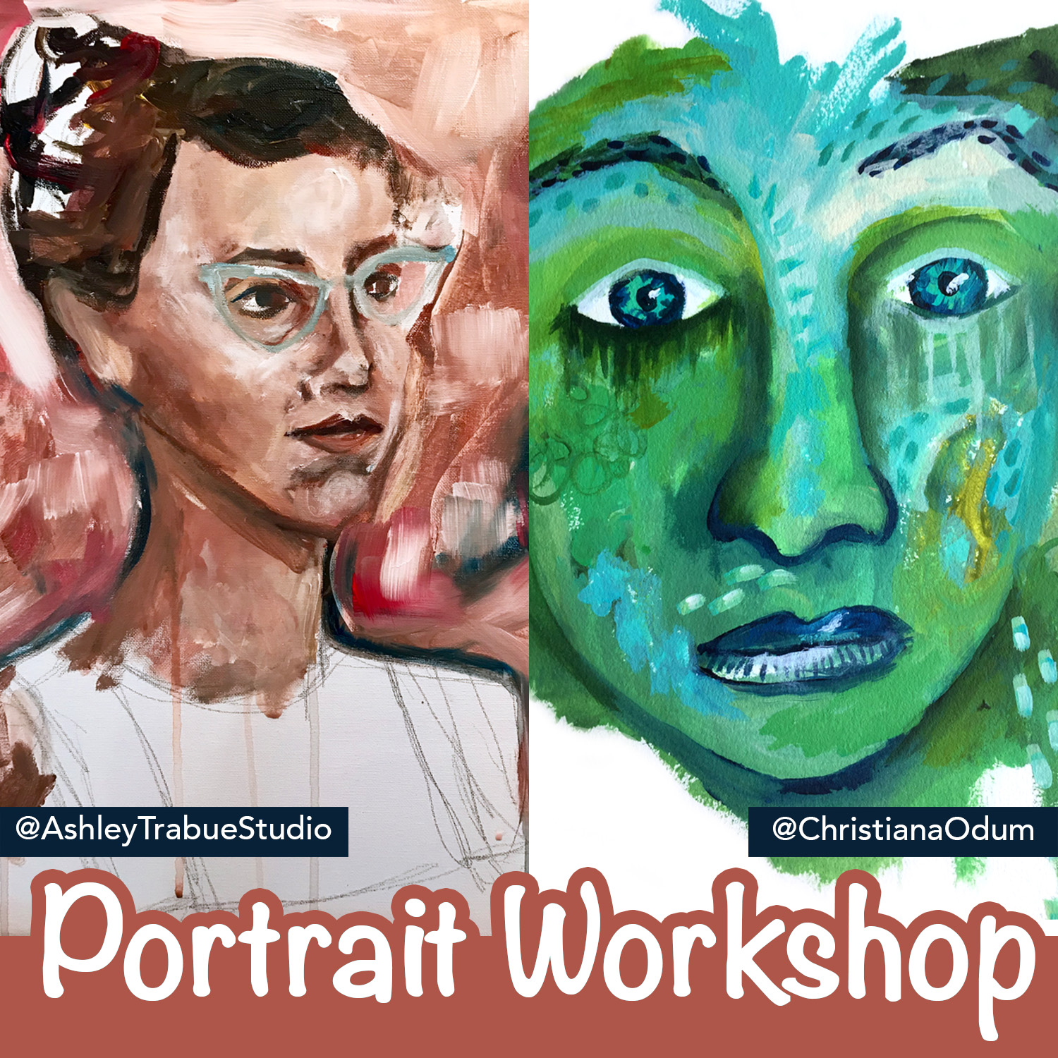 Portrait Workshop - Join us Saturday July 27 from 9 am—noon in Ashley Trabue's home studio for an intimate hands-on class in portraiture from two distinct local artists!For the first hour we'll learn the tips and tricks of drawing representational portraits, take a crash-course in color theory, and explore painting in an abstract and intuitive style.Over the next two hours, you will have access to an open-studio stocked with materials and enjoy Ashley and Christiana's personalized instruction, guidance, and encouragement while you paint a portrait of your own.Because we want to keep the group small and intimate, space is very limited!Click here to claim your spot!