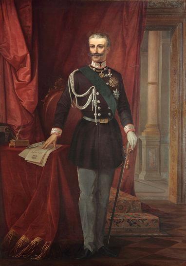 King Carlo Alberto I with an Albertina