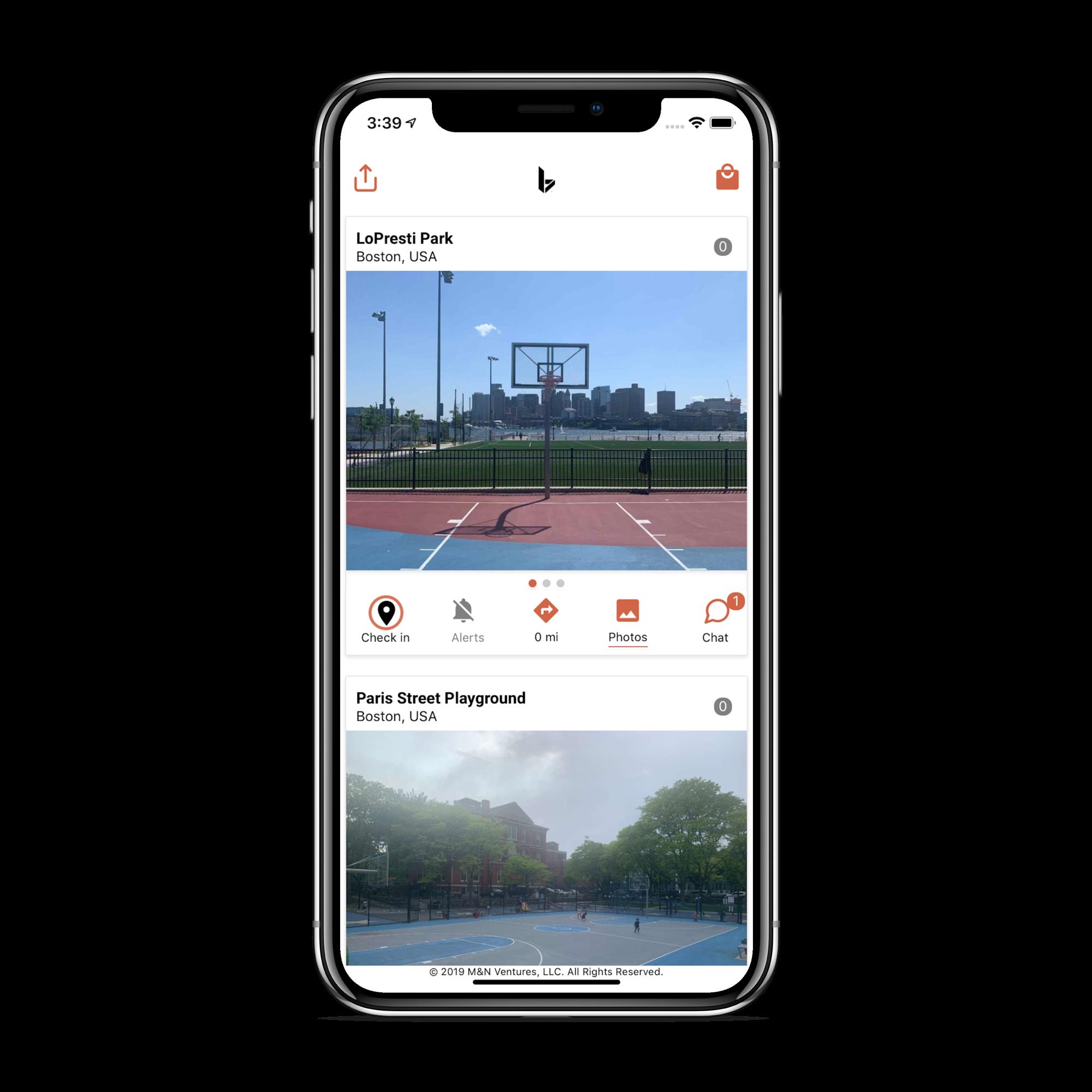 BRIM Basketball app screenshot