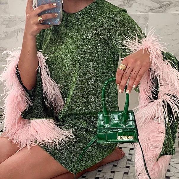 Green with envy for the new @jacquemus Le chiquito mini 💚✨🐝 via @whowhatwear . . . . . . . . #fashiongram #fashionblog #fashion #instastyle #style #fashionoftheday #instafashion #discoverunder5k #thebuzz #blog #jacquemus #jacquemusbag #mini #minibag #green #pink #sequin #lechiquito