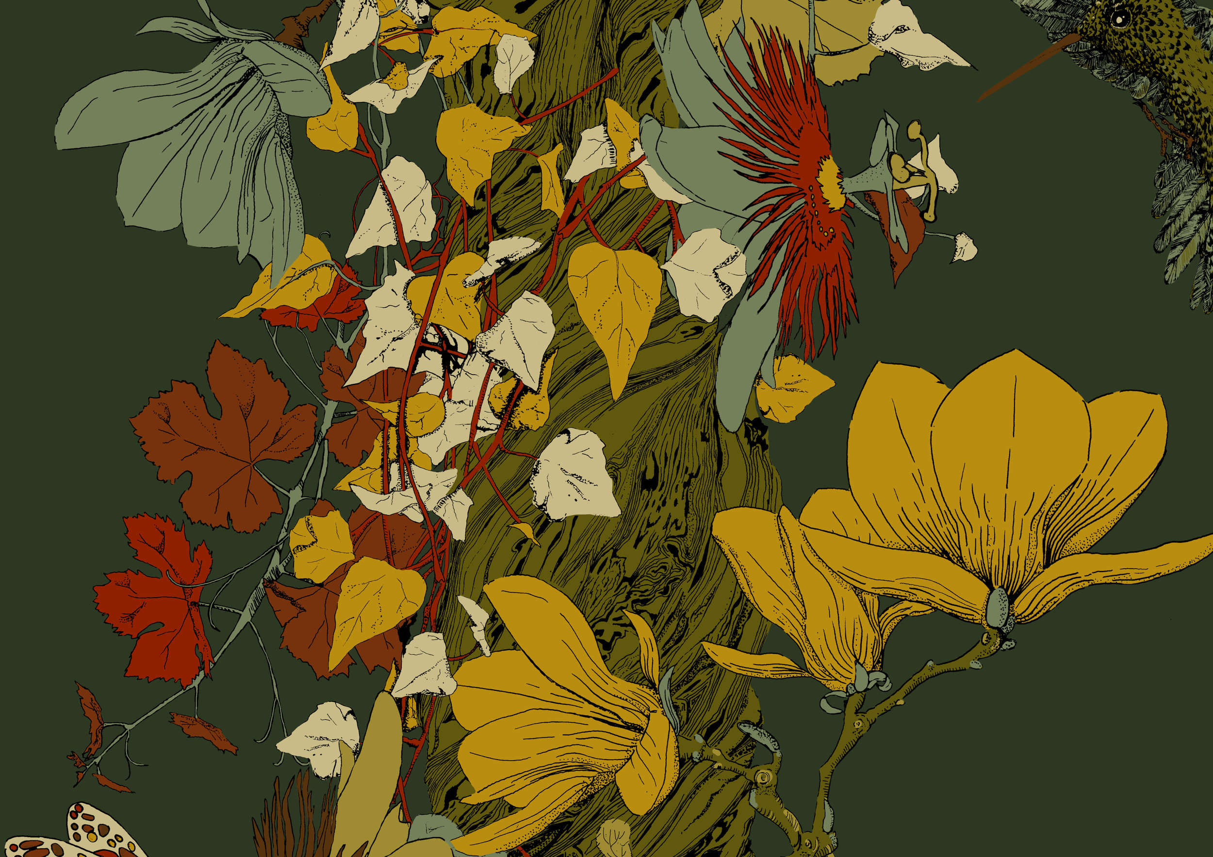 Floral Vines - Autumn