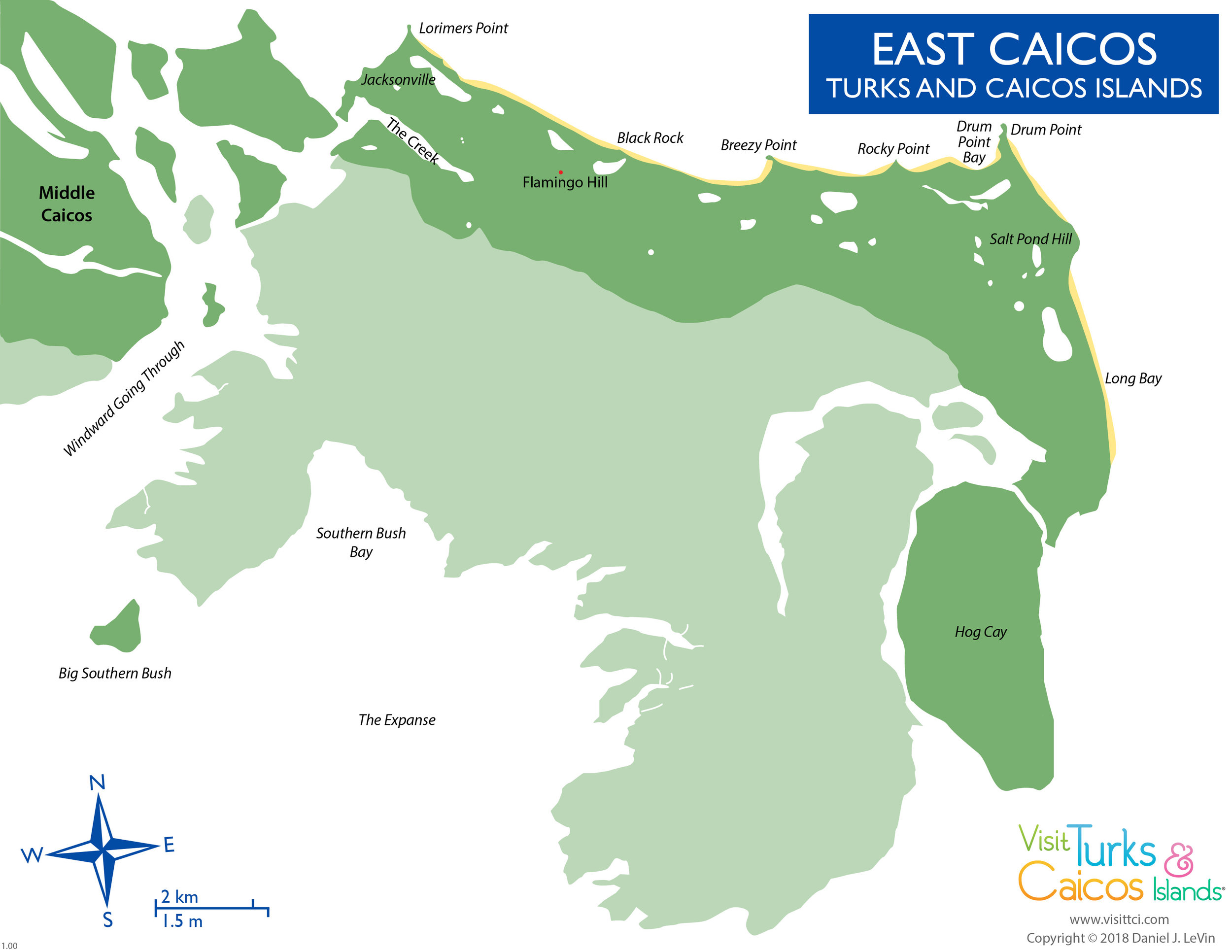 Map courtesy  visittci.com