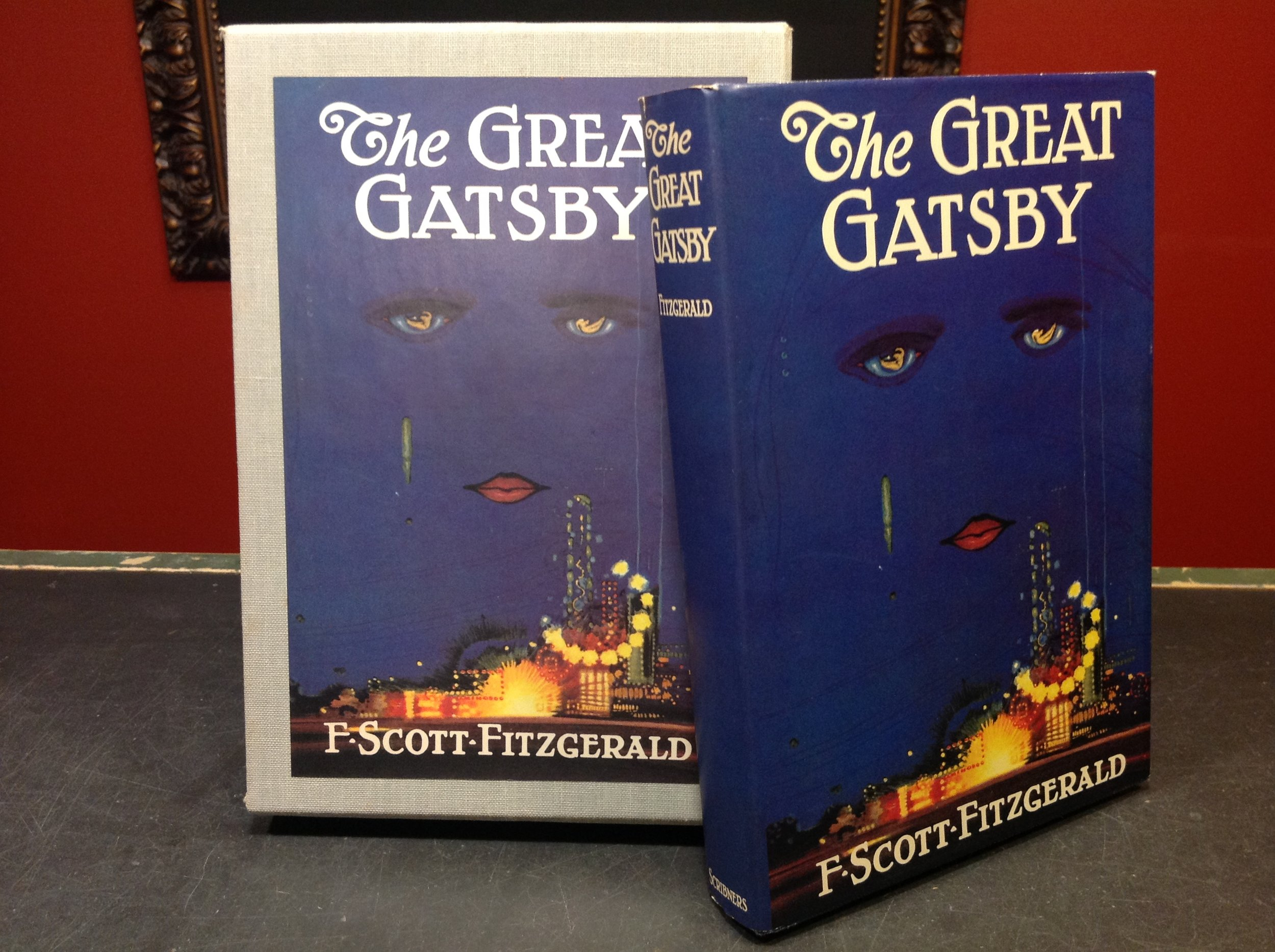 Great Gatsby by F. Scott Fitzgerald - First Printing of First Edition Library's edition; exact copy of the Gatsby first printing; in pictorial slipcase. Just one of a larger First Editions Library collection.