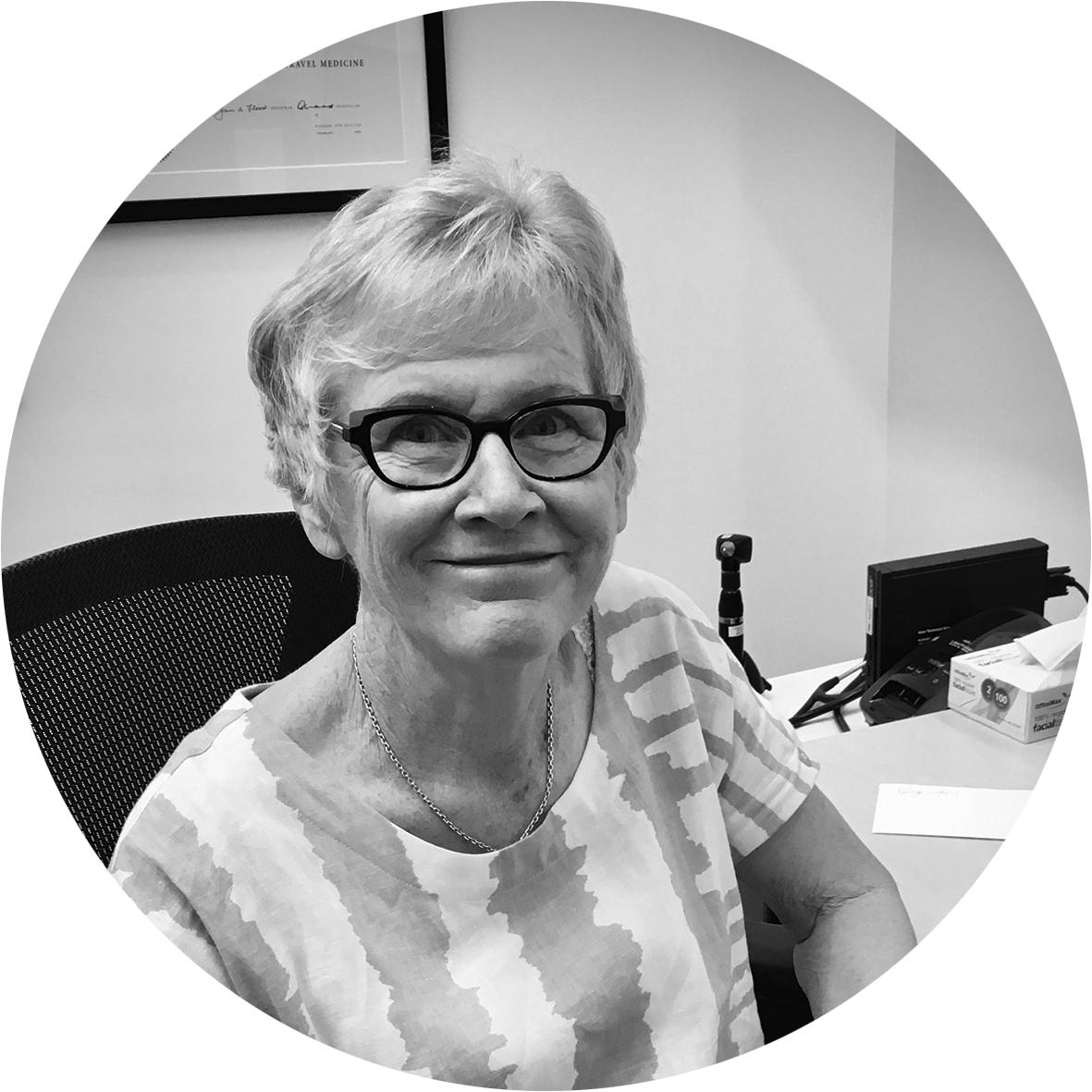 Dr Christine Forster - MNZM, MBChB, FRNZCGP, PG Dip. Prof Ethics,PG Cert. Travel MedicineAreas of special interest:Travel Medicine, Menopause, Dermoscopy