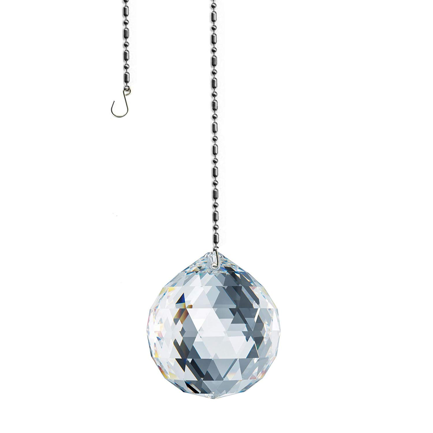 Swarovski 30mm Ball Prism Suncatcher, Rainbow Maker, Feng Shui Crystal - Made with Authentic Swarovski crystal from Austria for Flawless Amazing Clarity & Shine