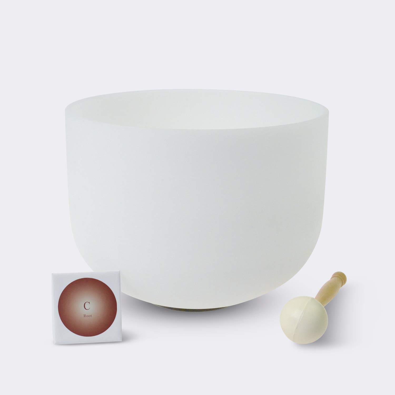 #1 ROOT CHAKRA440 Hz C Note Crystal Singing Bowl 12 inch - O-Ring and Rubber Mallet Included. American quartz made crystal singing bowls,The highest quality standards and the best quality crystal singing bowls in the world made by TOPFUND