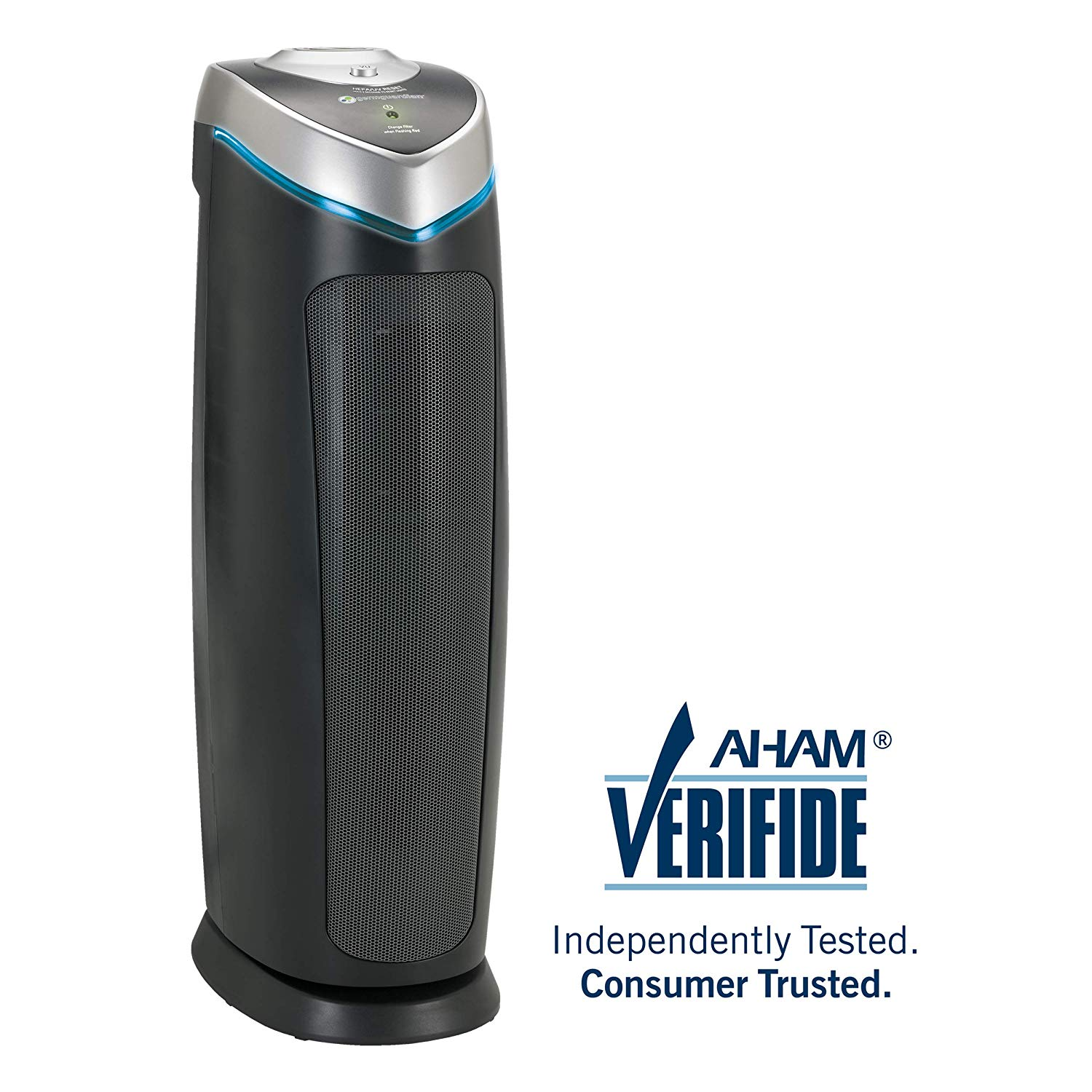 """GermGuardian AC4825 22"""" 3-in-1 Full Room Air Purifier - True HEPA Filter, UVC Sanitizer, Home Air Cleaner Traps Allergens, Smoke, Odors, Mold, Dust, Germs, Pet Dander, 3 Yr Warranty Germ Guardian"""