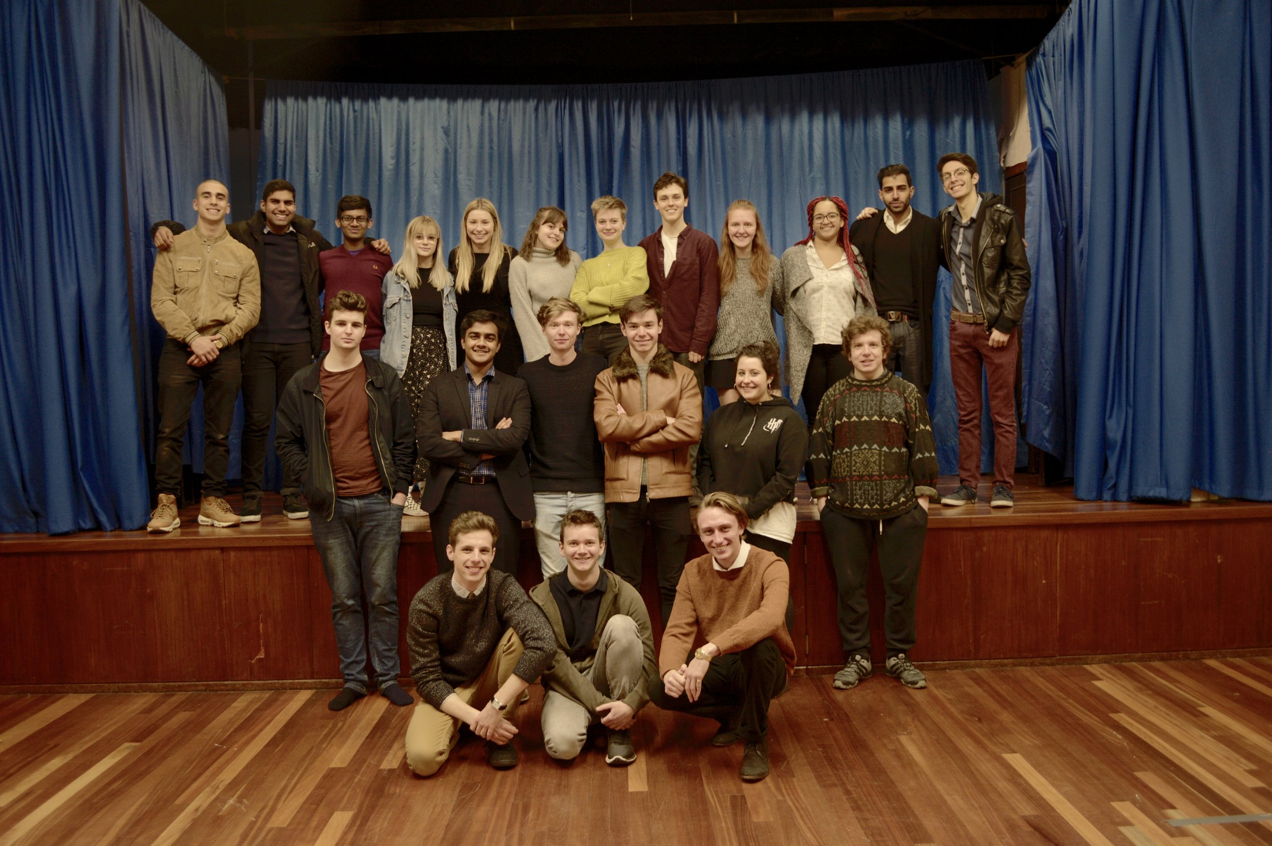 Some of the cast and crew involved in the making of the  Ollie  film, at Pinner Methodist Church.
