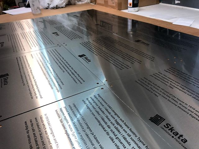 Beautiful brushed stainless steel plaques! #laser #laserengraving #laserengraved #engraving #stainless #steel #stainlesssteel #plaque #sign #signage