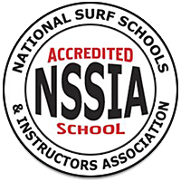 Certified by  National Surf Schools & Instructors Association