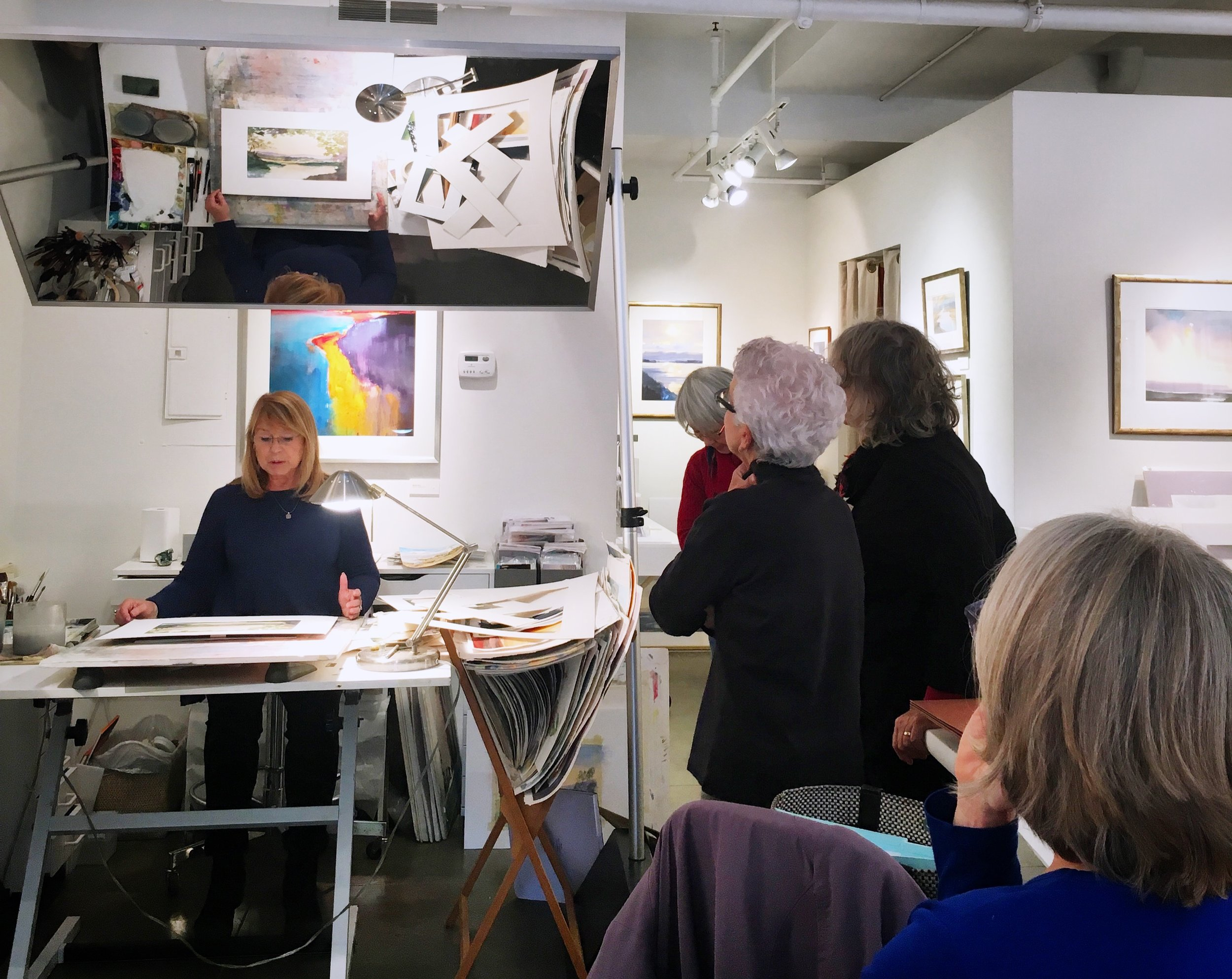 Beginner Watercolor with Betsy Jacaruso - Starting with the basics: learn foundational watercolor techniques. Demonstrations and guided studio practice. No experience required.