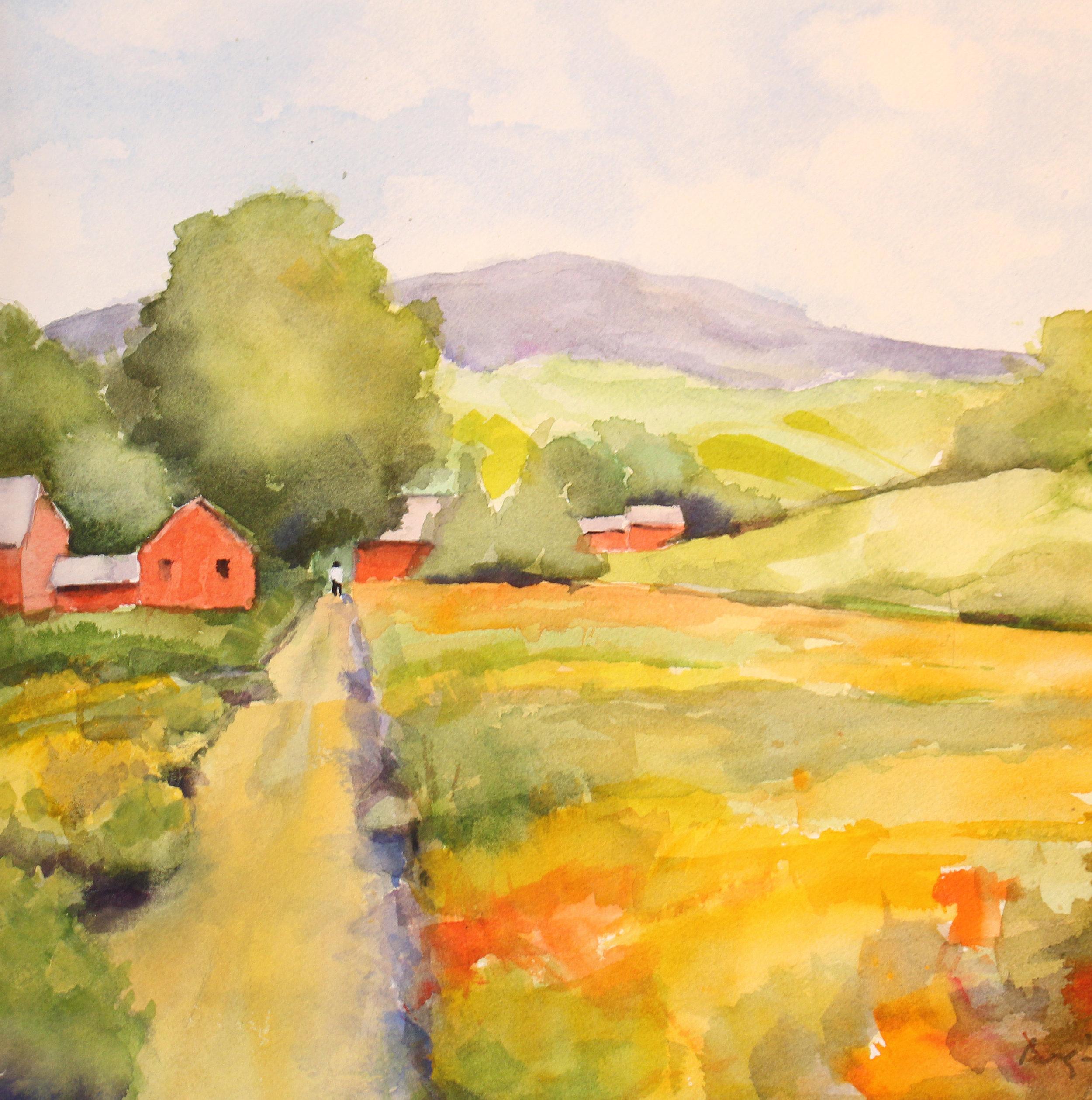 Red Barn Lane II, Barbara Bergin