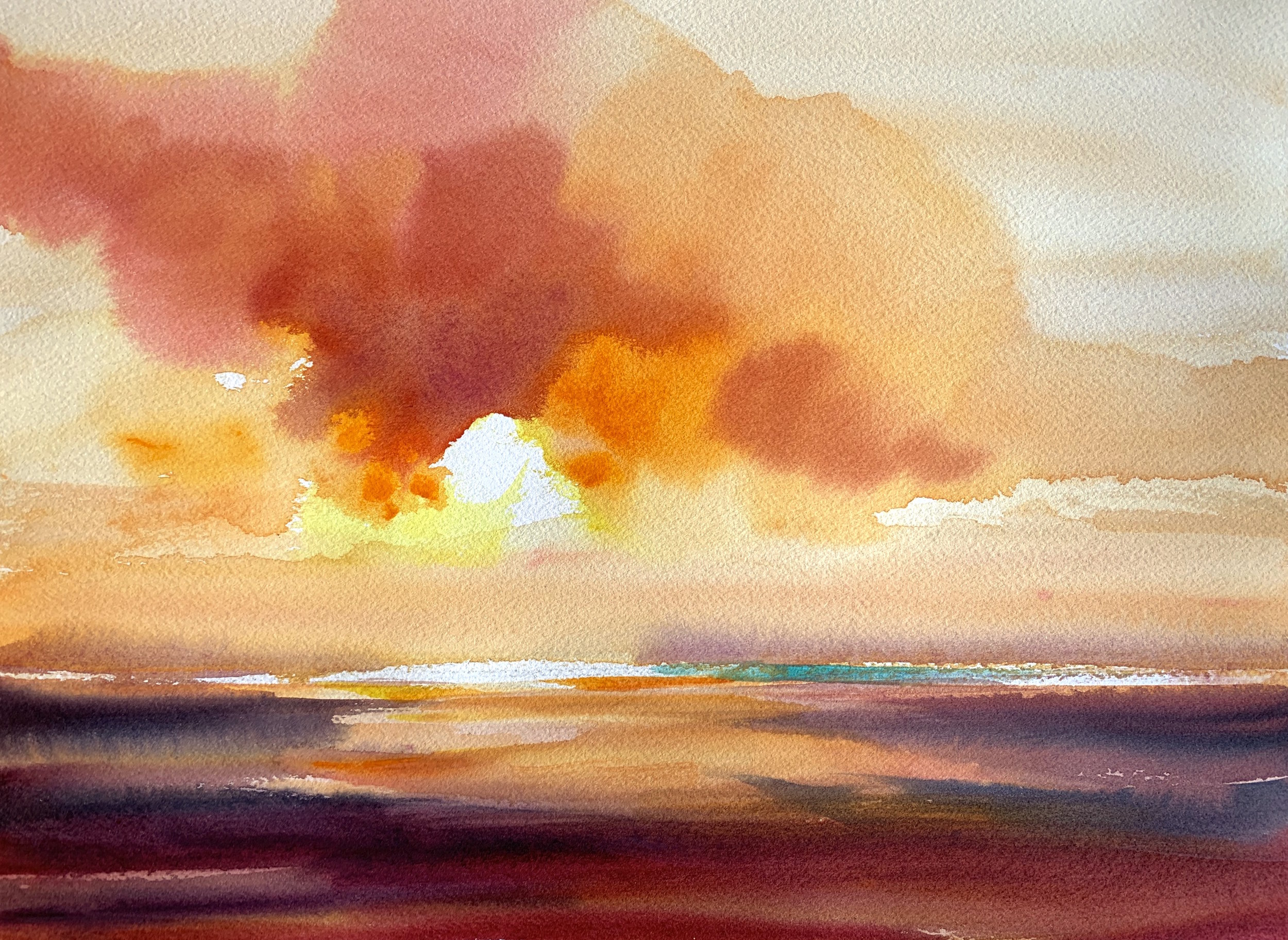 Betsy Jacaruso, watercolor   Original available