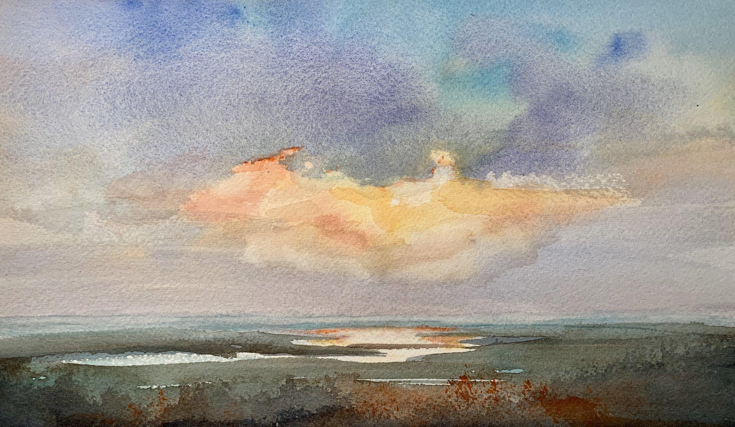 Scenic Overlook , Hana Gordon, watercolor