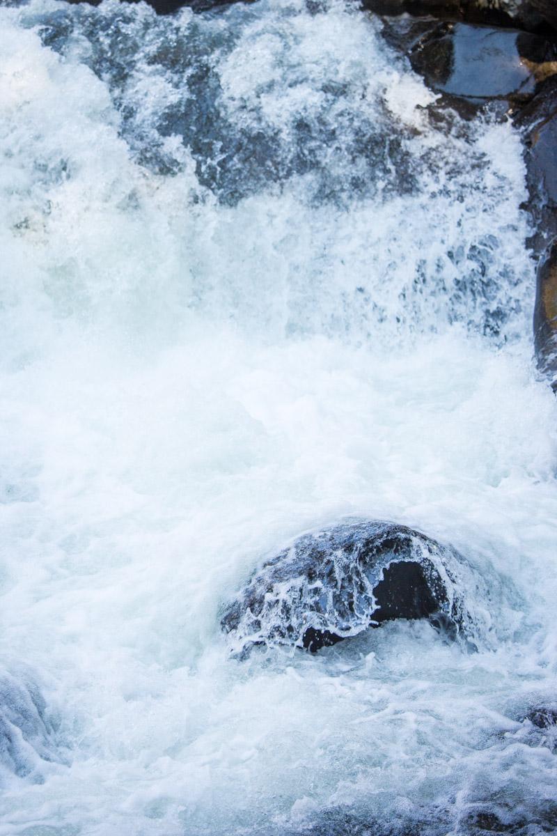 Water rushing over rocks