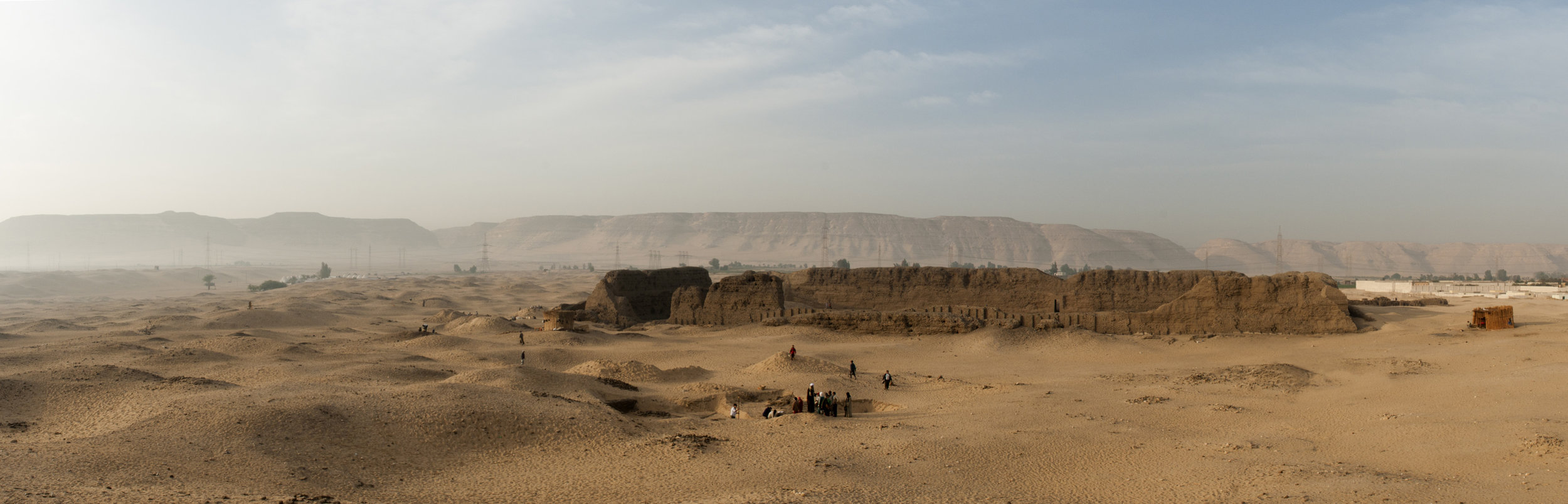 Fig. 2. King Khasekhemwy's Second Dynasty cultic enclosure (c. 2650 BCE), the Shunet el-Zebib at the Abydos North Cemetery. Photo: Greg Maka / North Abydos Expedition © 2012