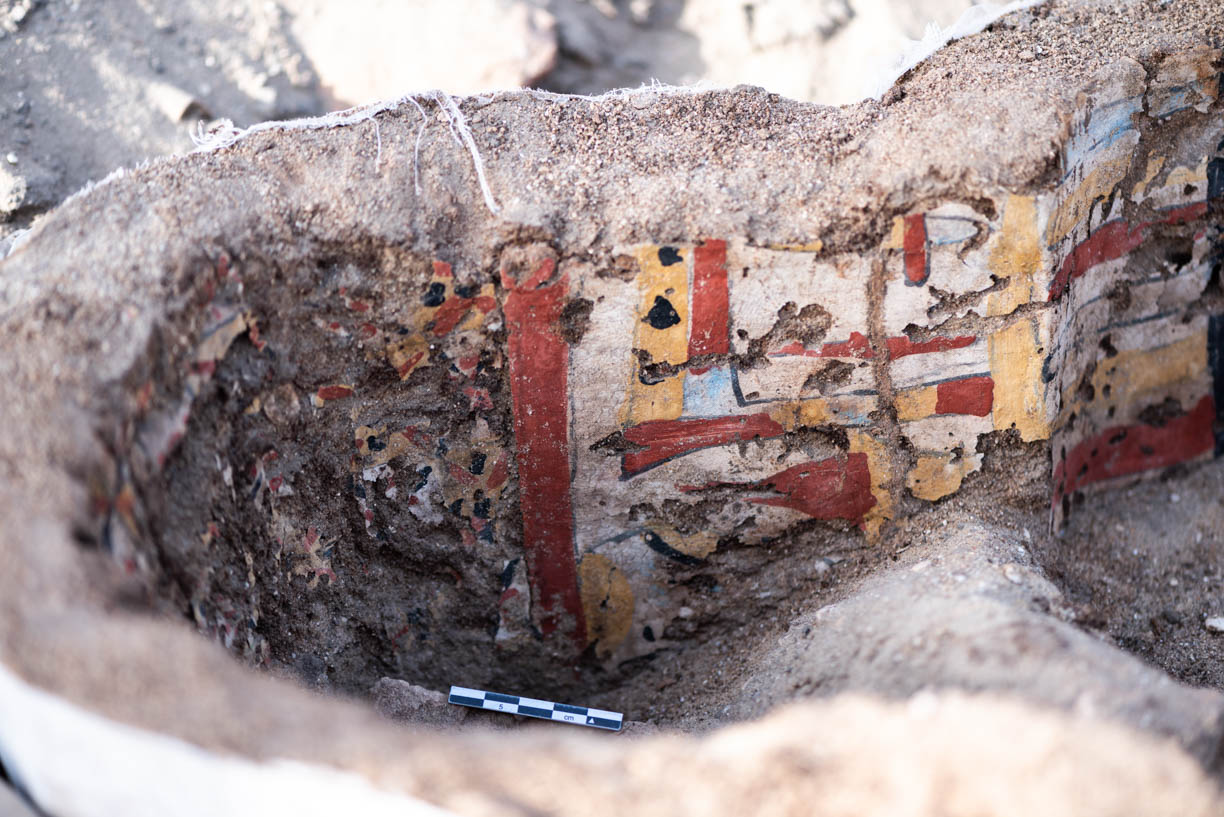Fig. 6. Interior view of the head of the coffin. Photo: Ayman Damarany / North Abydos Expedition © 2019