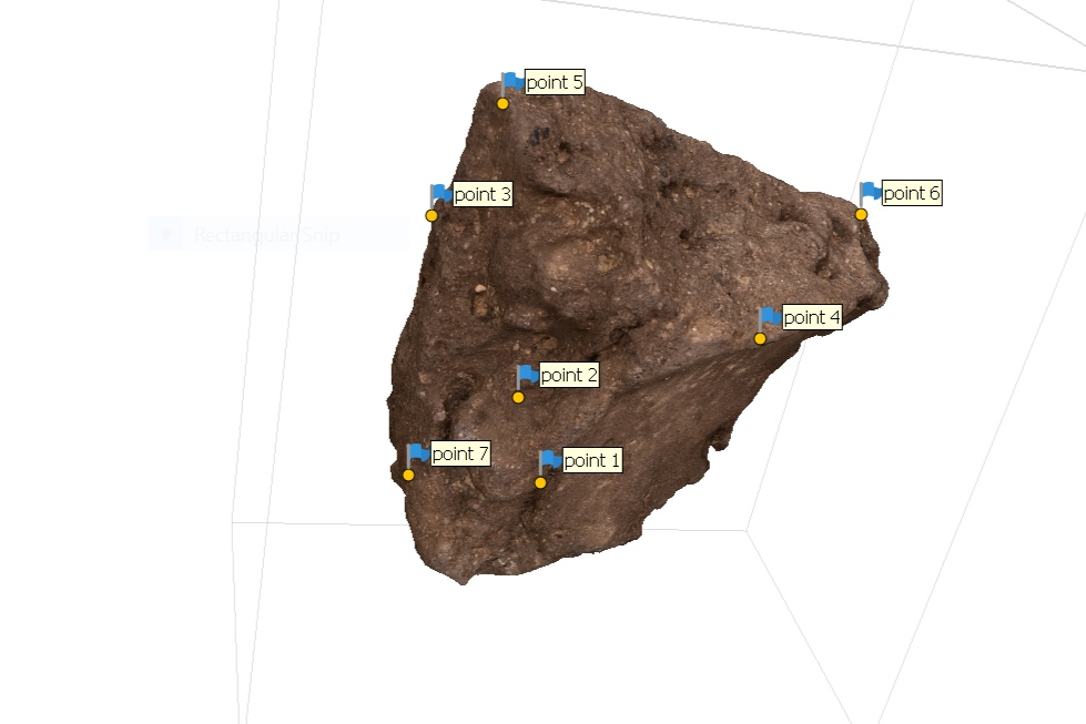 Fig. 13. 3D modeling of an Early Dynastic seal impression from the Abydos North Cemetery, back view in process. Photo: Blair Simmons / North Abydos Expedition © 2019