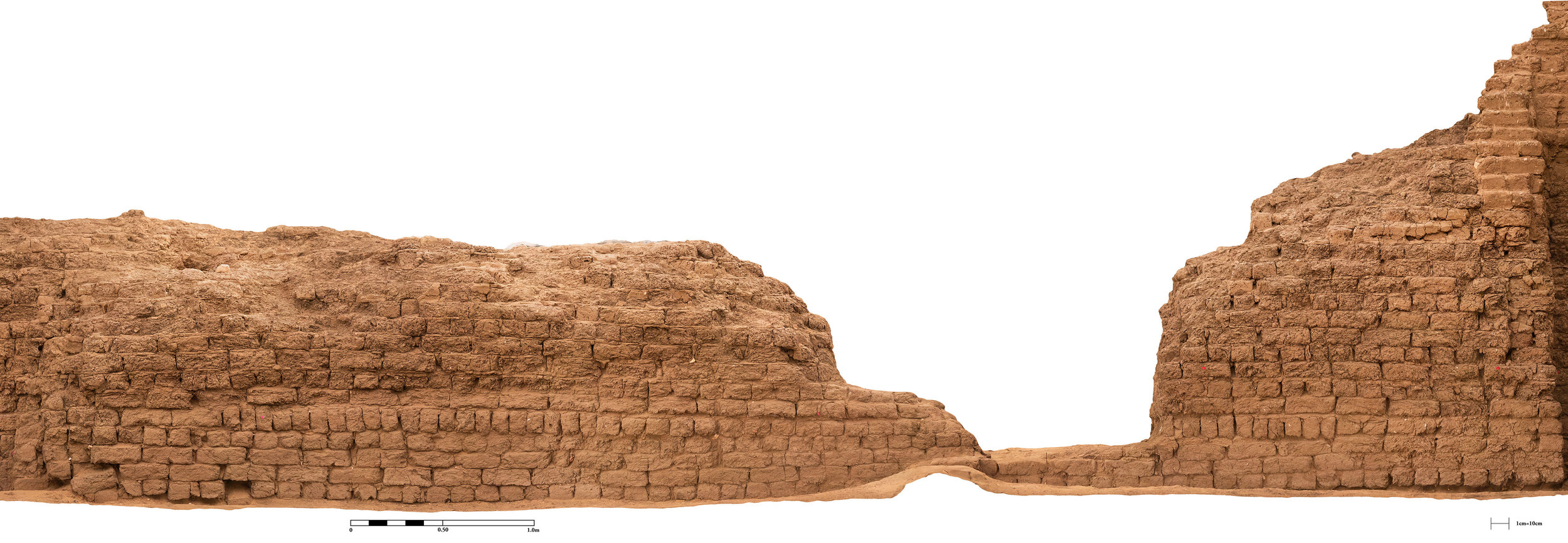 Fig. 18. Architectural modeling of the east corner gateway of the Shunet el-Zebib — step five, orthorectified image. Photo: Blair Simmons / North Abydos Expedition © 2019