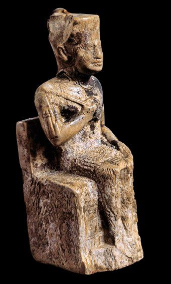 Fig. 1. Ivory statuette of King Khufu from Abydos, c. 2325-2175 BCE. Photo courtesy of the  Egyptian Museum, Cairo