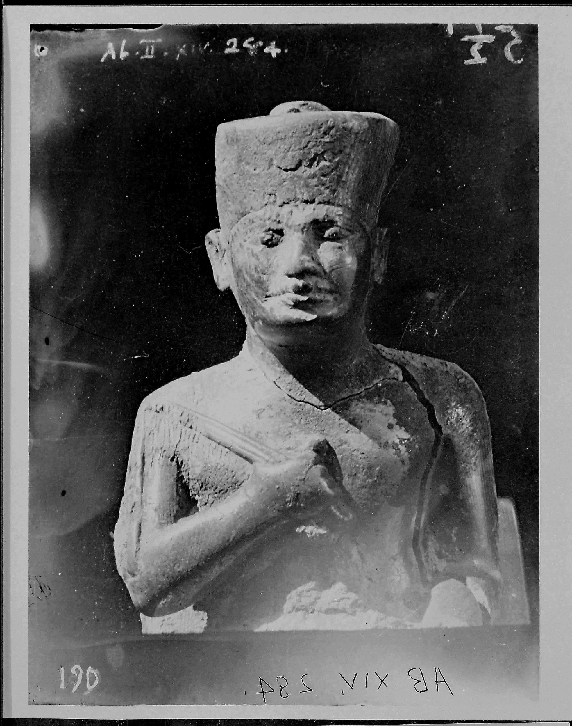 Fig. 2. Flinders Petrie's original image of this extraordinary find, taken during the 1902-1903 field season at Abydos. Photo courtesy of the  Egypt Exploration Society