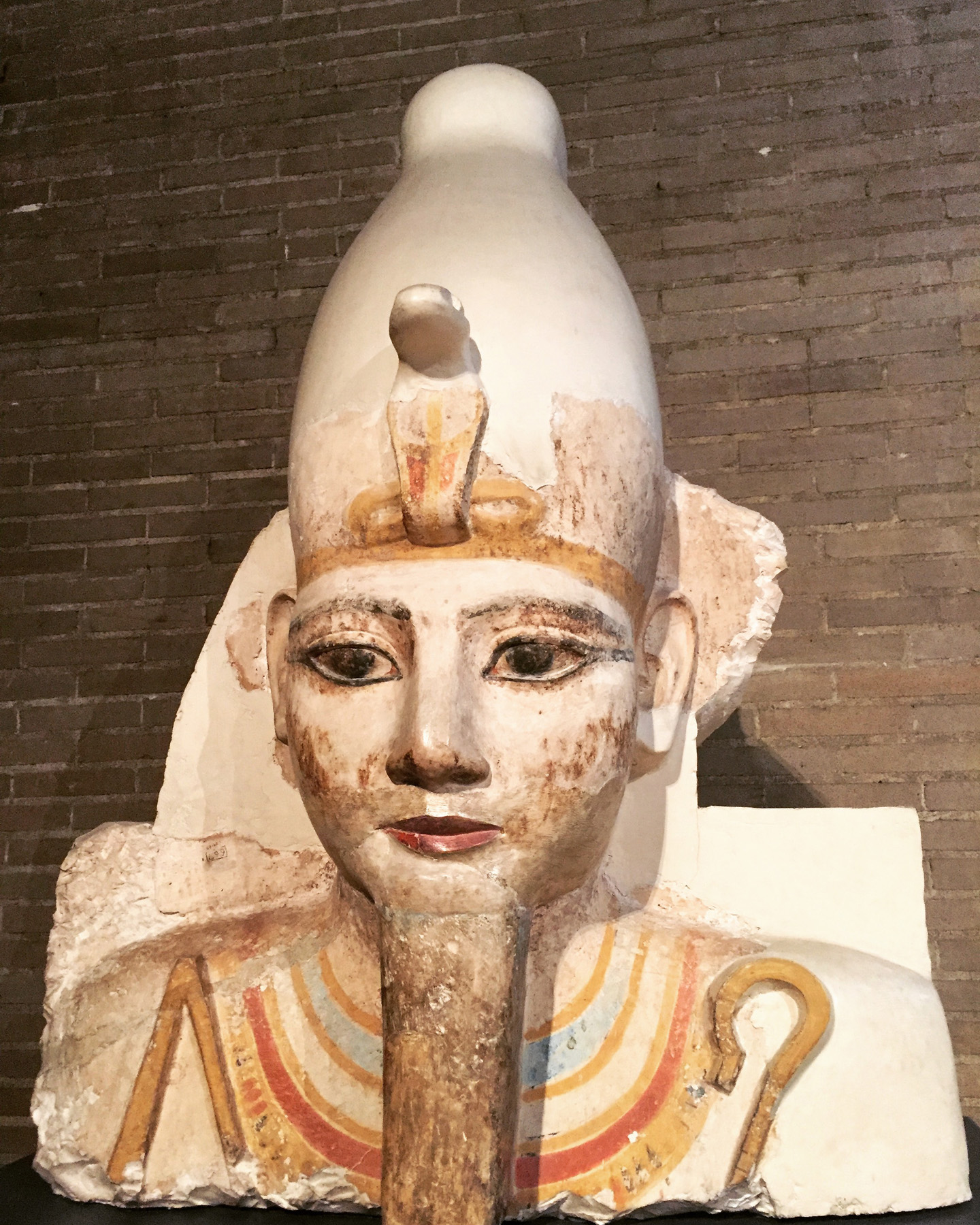 Fig. 6. This colossal head of Ramses II, one of the most powerful kings in history, was among the first finds of the first season of Penn-Yale excavations at Abydos in 1967. Today, it cuts an impressive figure in the Egyptian galleries of the University of Pennsylvania Museum of Archaeology and Anthropology. Photo: Wendy Doyon © North Abydos Expedition 2018