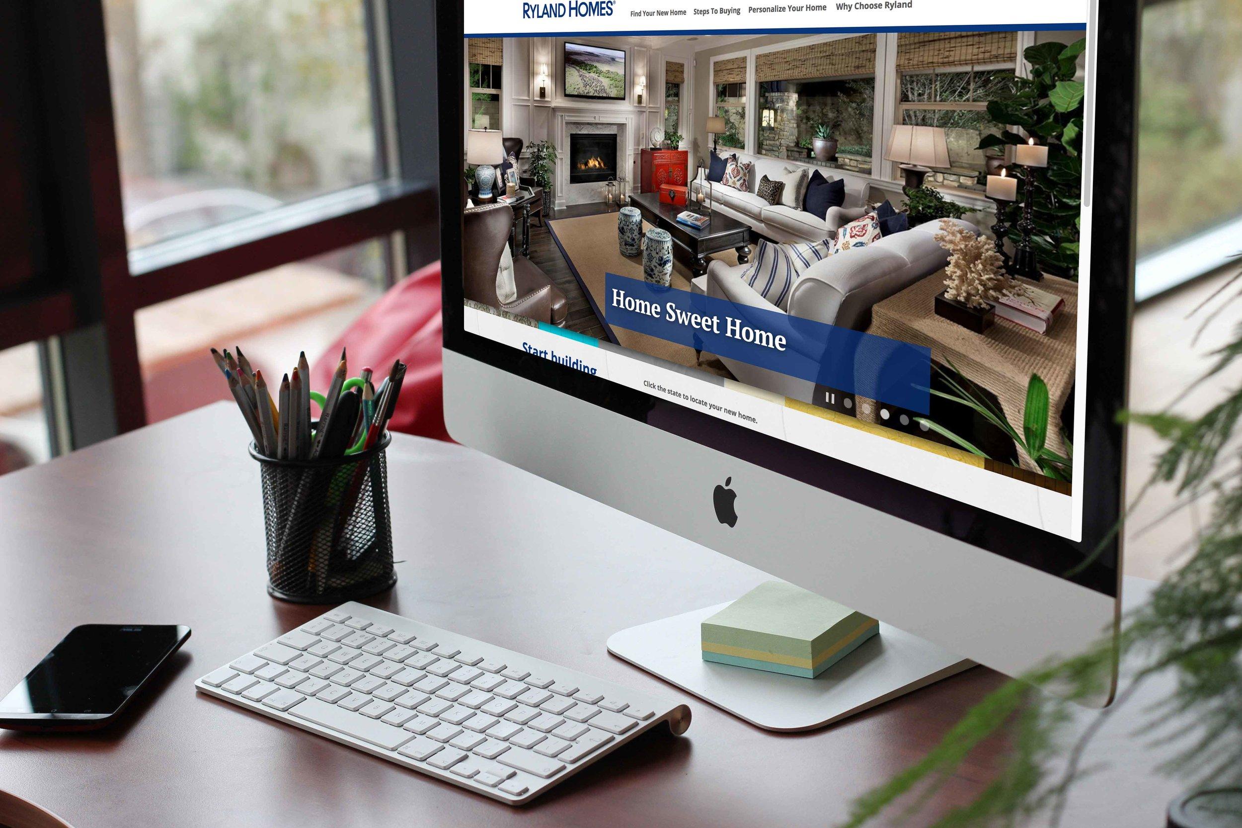 Ryland Homes - UX + UI Design, Responsive Website