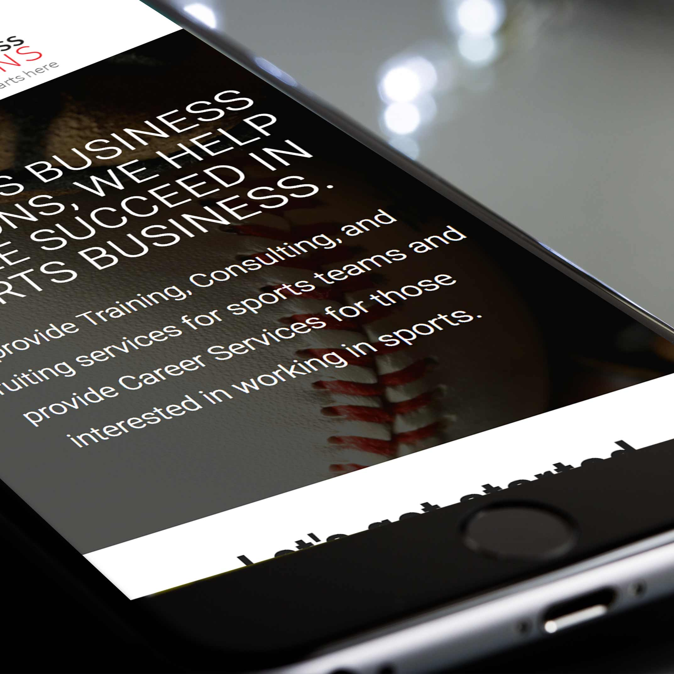 Sports Business Solutions - UX/UI Design