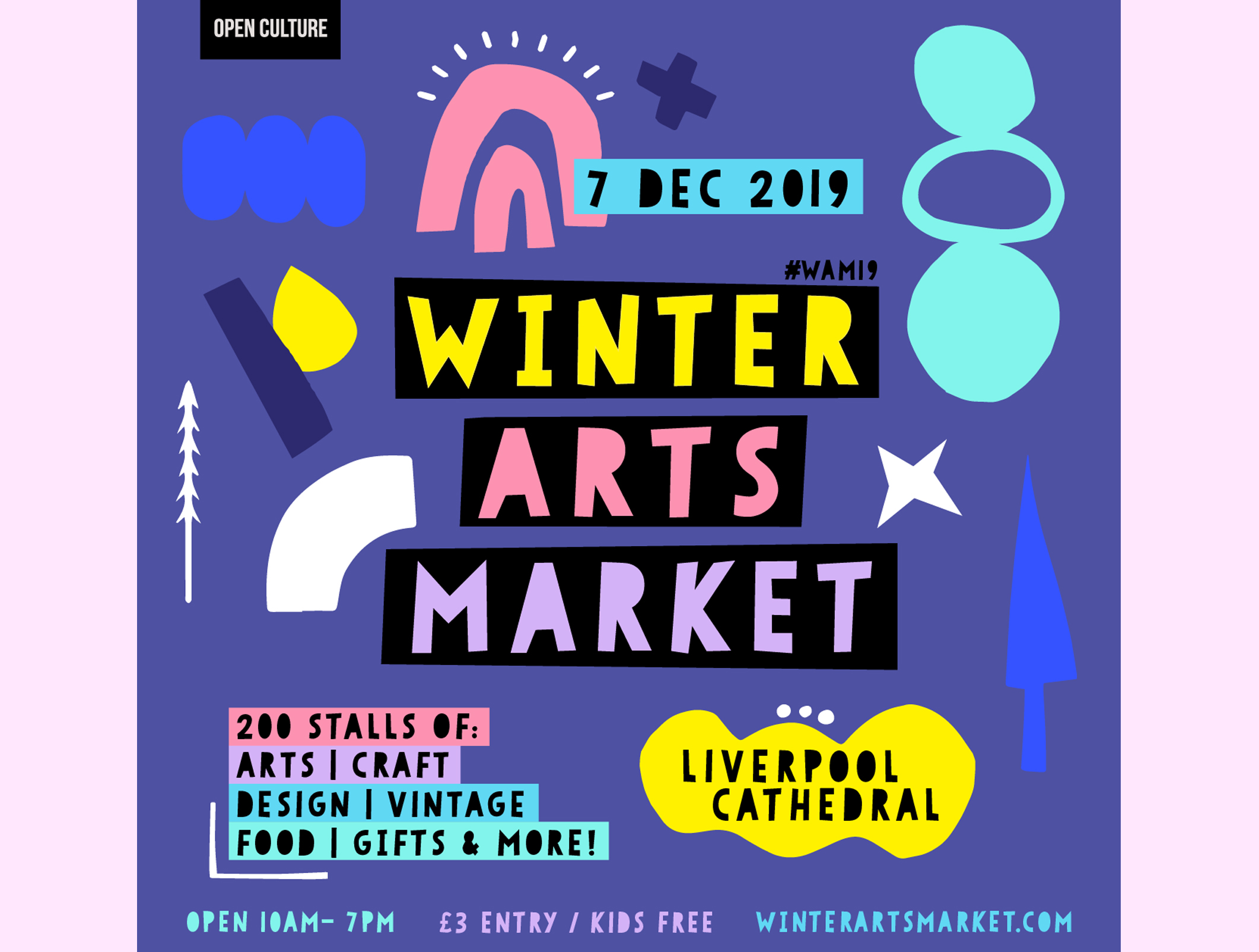 Winter Arts Market, Liverpool - 7th December, Liverpool Cathedral 10am - 7pm