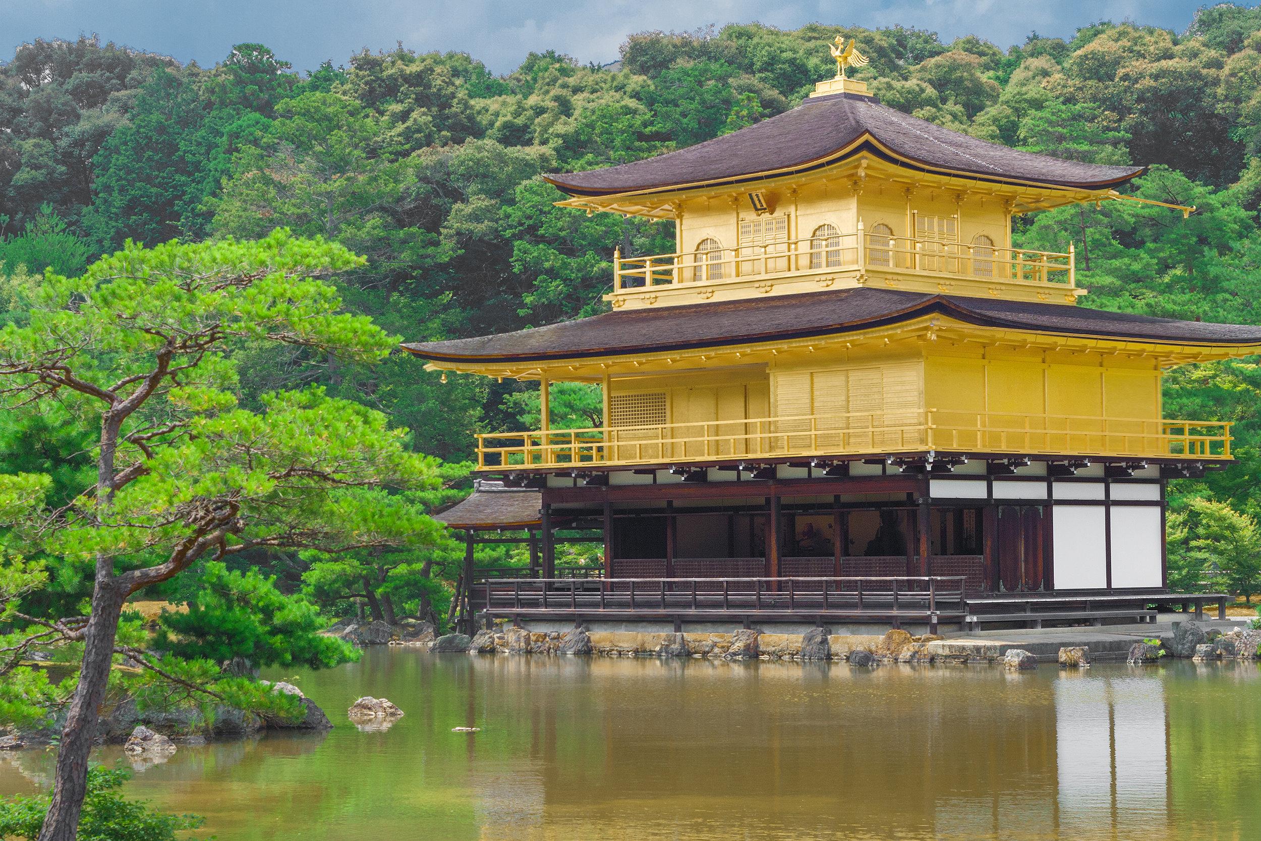 The Golden Pavilion II, Kinkaku-ji, Kyoto, Color Photograph