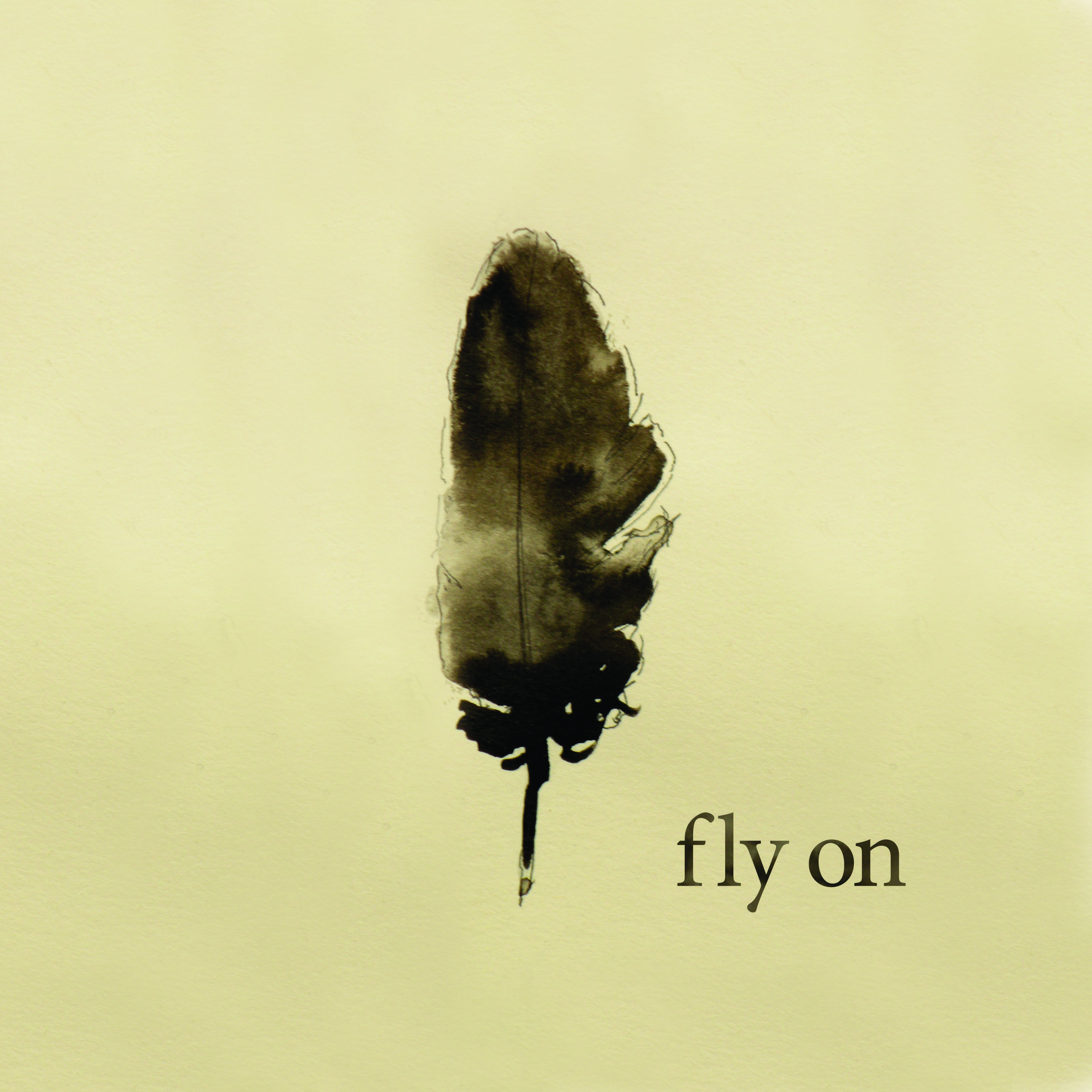 Album Cover: fly on  Artist:  Jacob Montague  Materials: Sumi ink, custom font
