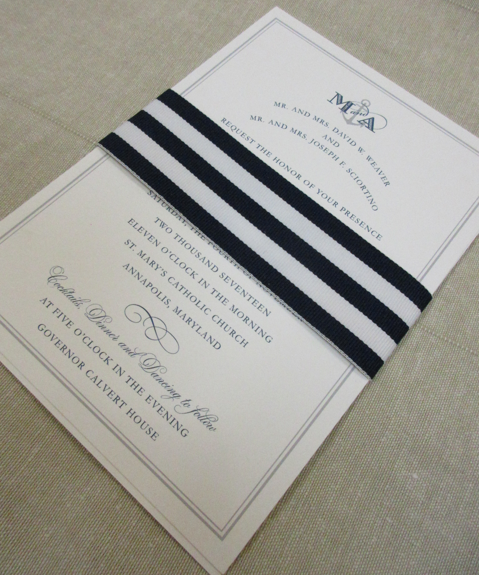 Nautical Wedding Invitations.Nautical Wedding Invitation Paper In The Park