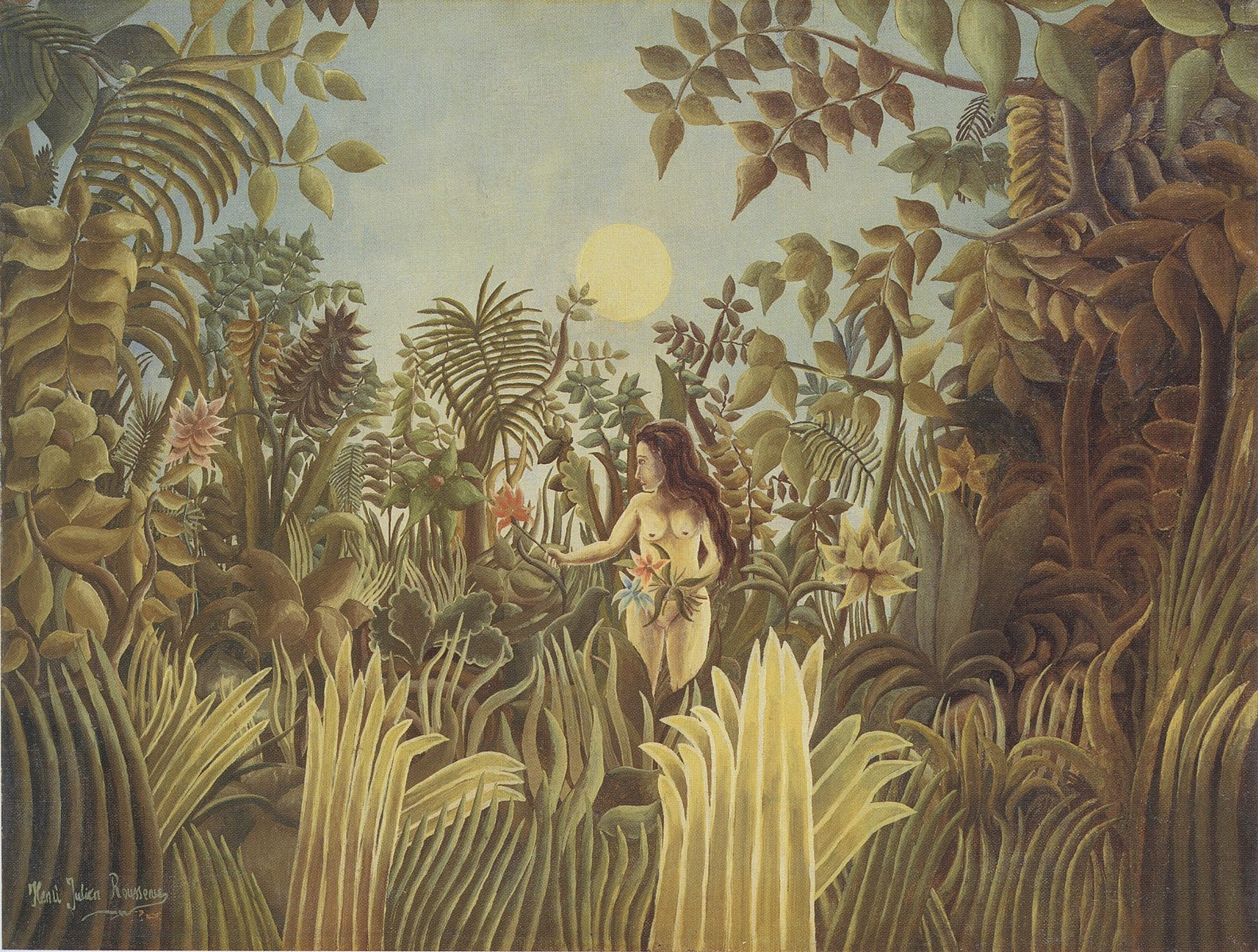 Eve In The Garden of Eden,  Henri Rousseau