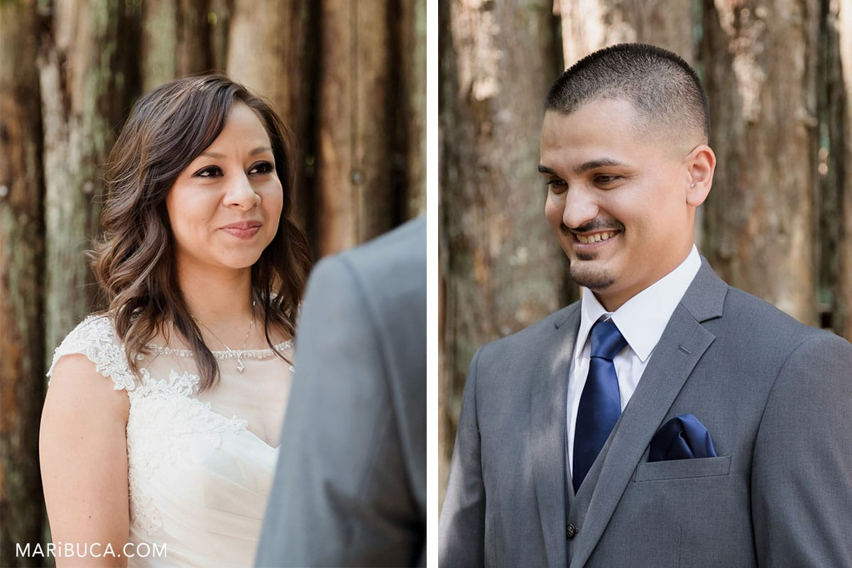 portrait groom and bride during Watsonville Wedding ceremony
