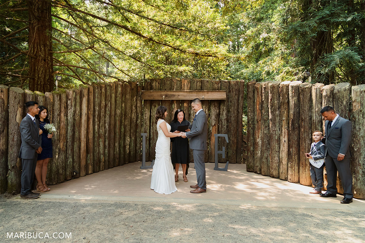 wedding ceremony in the Watsonville outdoor