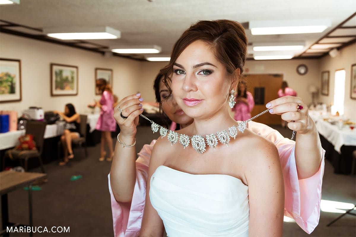 The bride think about first look during getting ready.