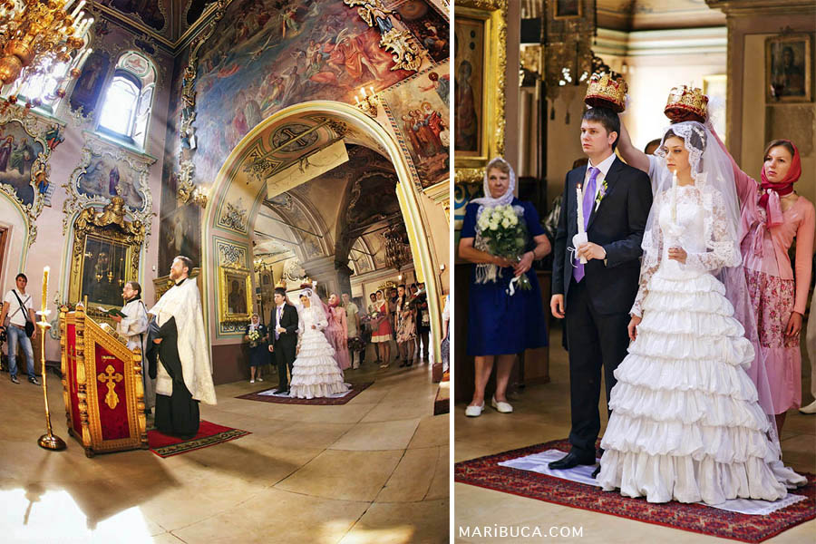 Beautiful wedding ceremony in the Christian Orthodox Church, Bay Area