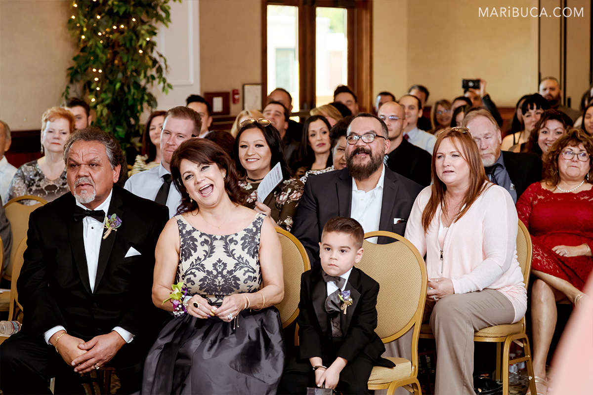 parents excited see kids in the ceremony Villa Ragusa