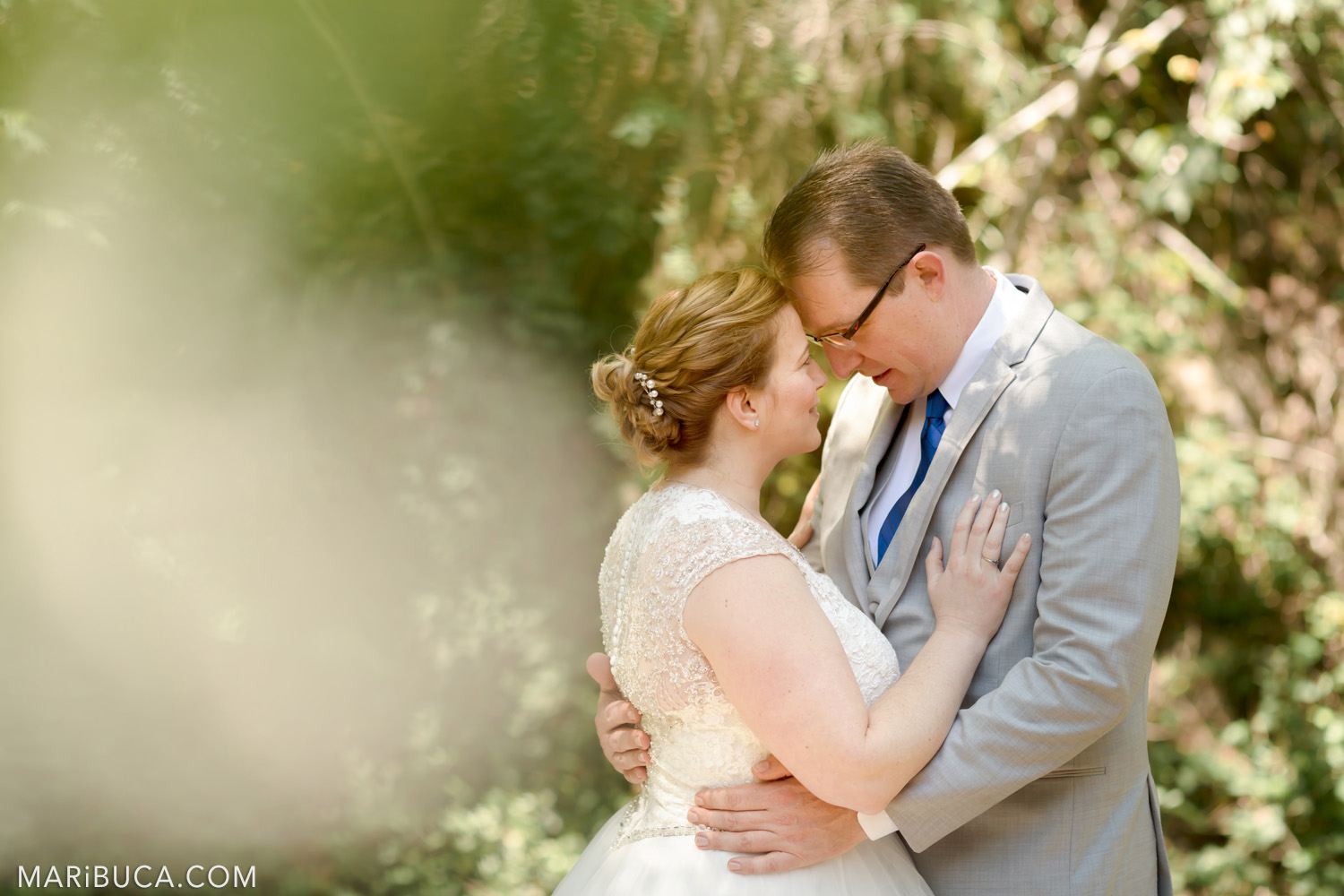 Saratoga Spring Wedding with adorable newlyweds couple in the Campbell