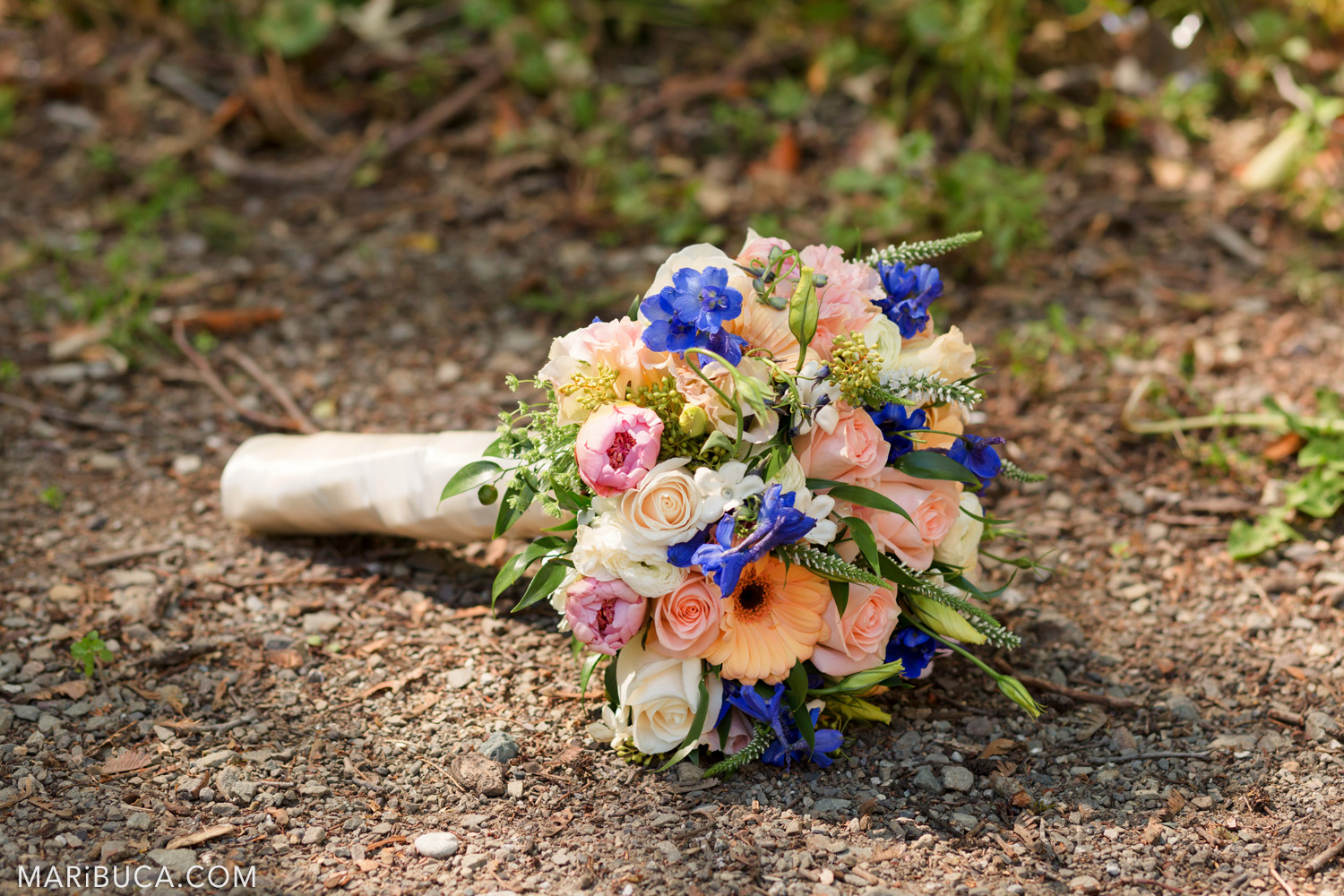 Colorful wedding bouquet in the in the Saratoga Springs Wedding