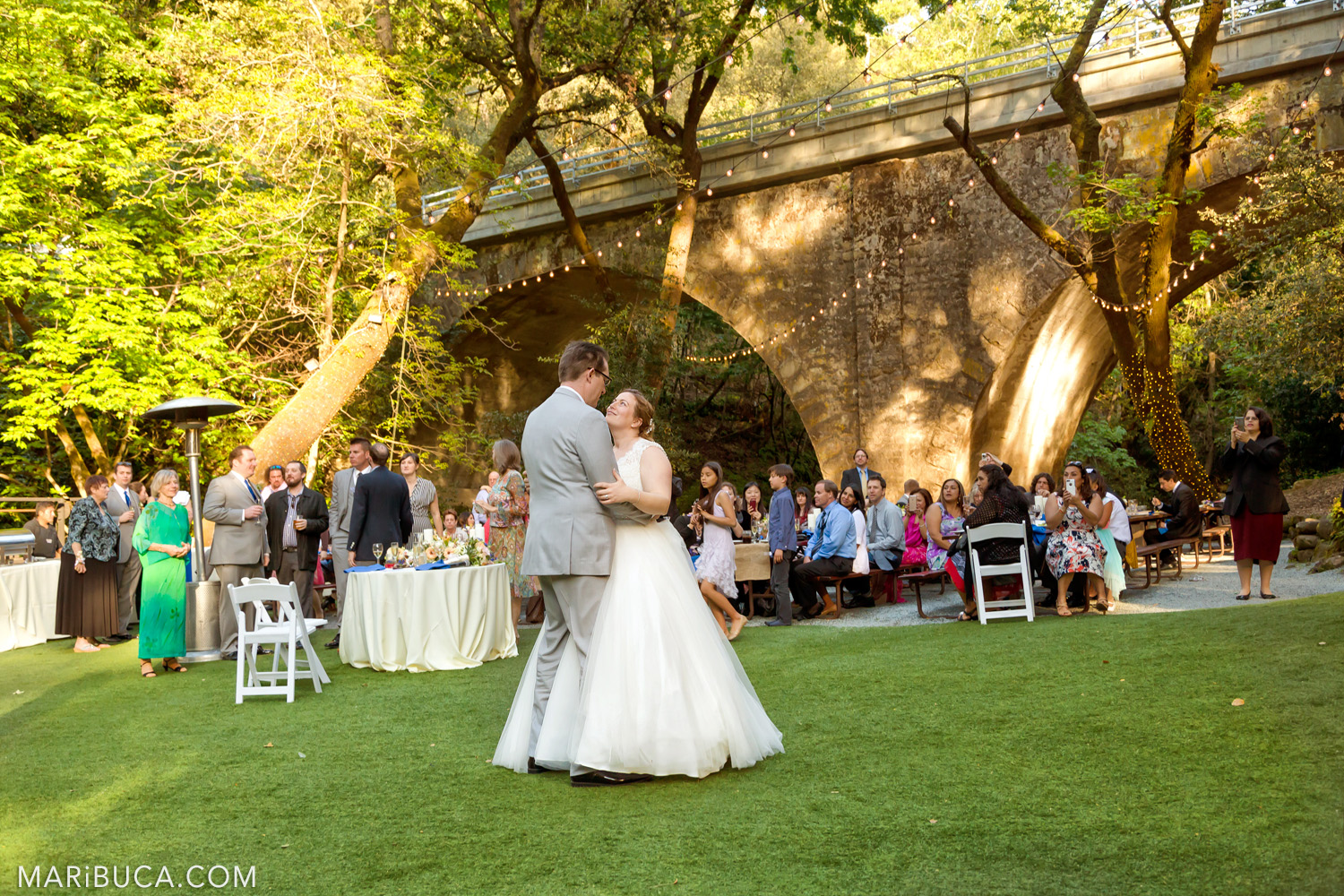 First dance as the married couple in the Saratoga Springs Wedding