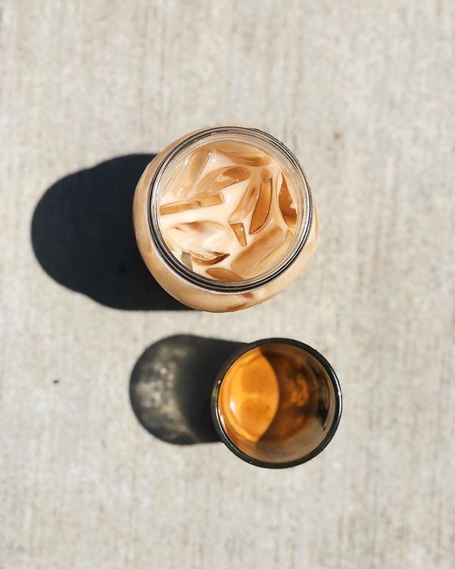 Happy Saturday! It is HOT! With a heat index in the triple digits today, we figured this would be a good time to showcase one of our favorite iced beverages:  Oat Milk Dirty Chai. Smooth, spicy and lightly sweet masala chai mixed equal parts with minor figures oat milk and topped with 2 oz. of espresso. Give it a try!