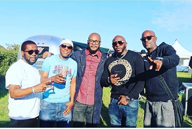 Kingdem on da road...u dun know!! #Shindigfestival Weekender...we caught up with a next kingdem #SeanieT... What a vibe💯💥💥💥 from left to right @akateddy @seanie_t @tymusical @officialblaktwang @rodneyp_uk #KINGDEM #darkhorizon #dubpistols #legendary #Foundation #haddonpr #hermano #Rottonostra